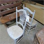 (2) Wood Spindle Back Chairs