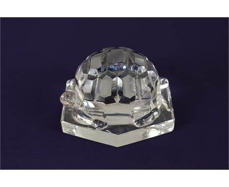 A Baccarat crystal paperweight of a tortoise, 7cm high