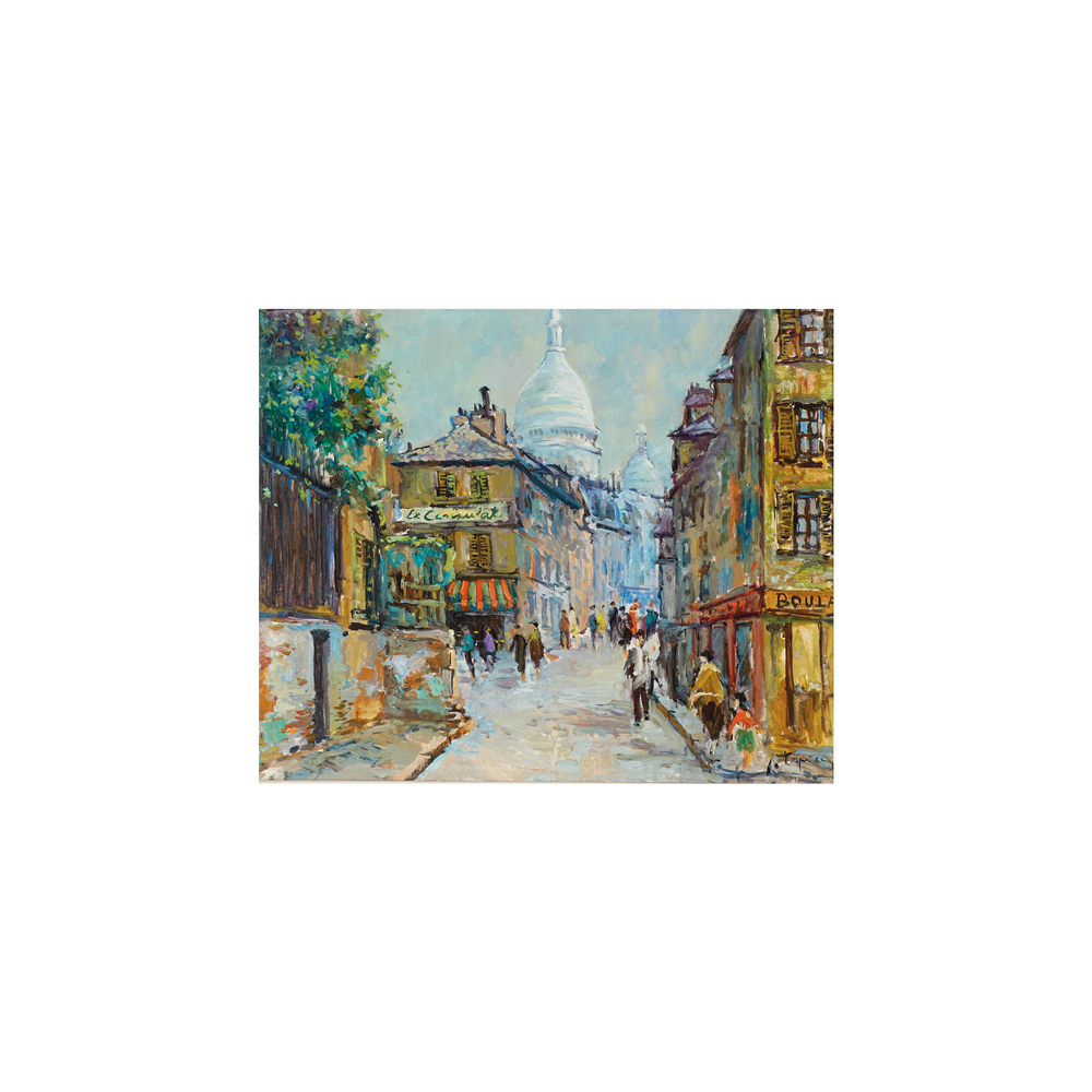 José Tapia. Montmartre. París. Óleo sobre tela.