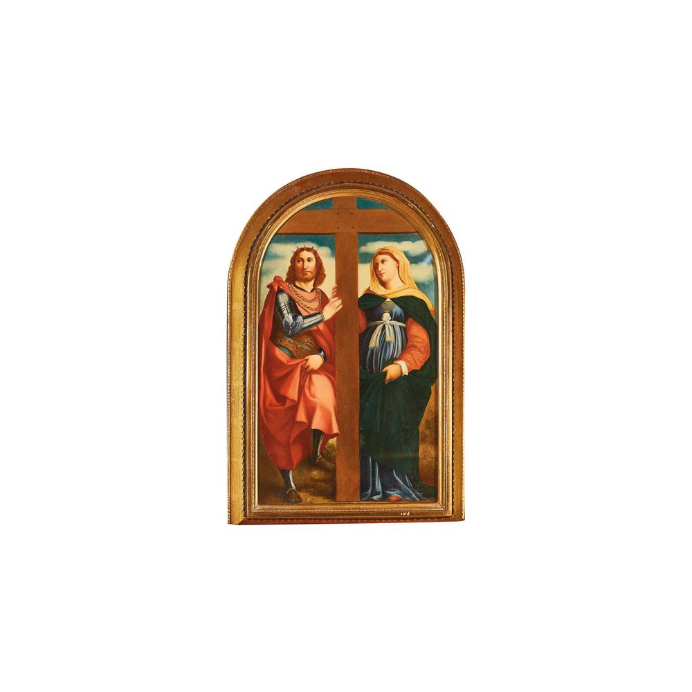 Escuela italiana, s.XIX. Santa Elena y Constantino. Óleo sobre tabla.