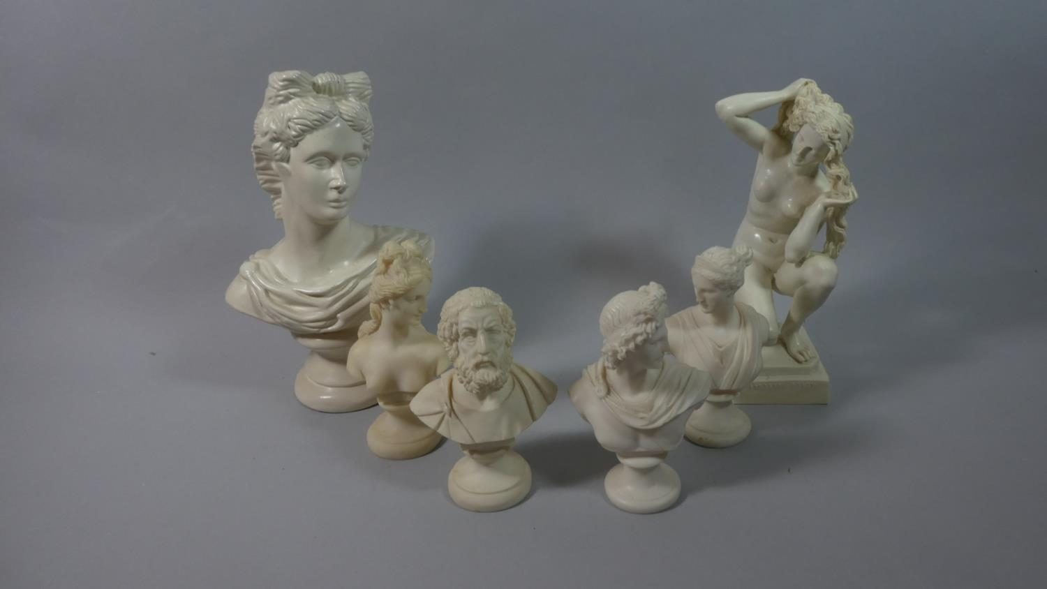 Lot 154 - A Collection of Resin and Ceramic Classical Busts, The Tallest 27cm high