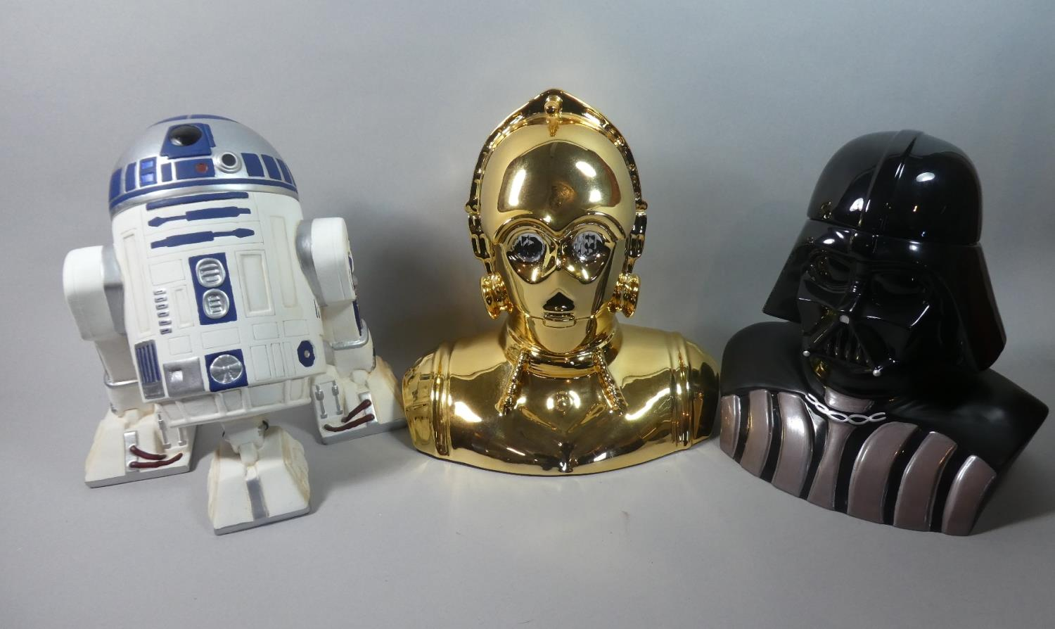 A Collection of Three Star Wars Novelty Biscuit Barrels