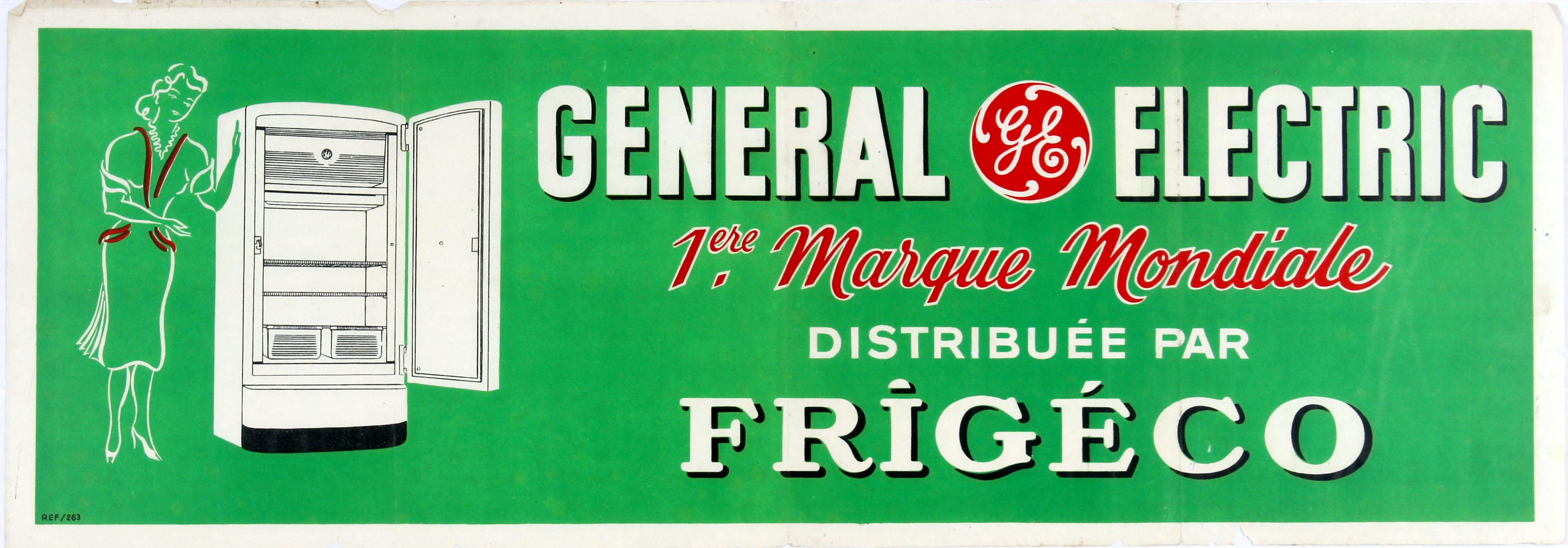 Lot 1510 - Advertising Poster General Electric Refridgerators