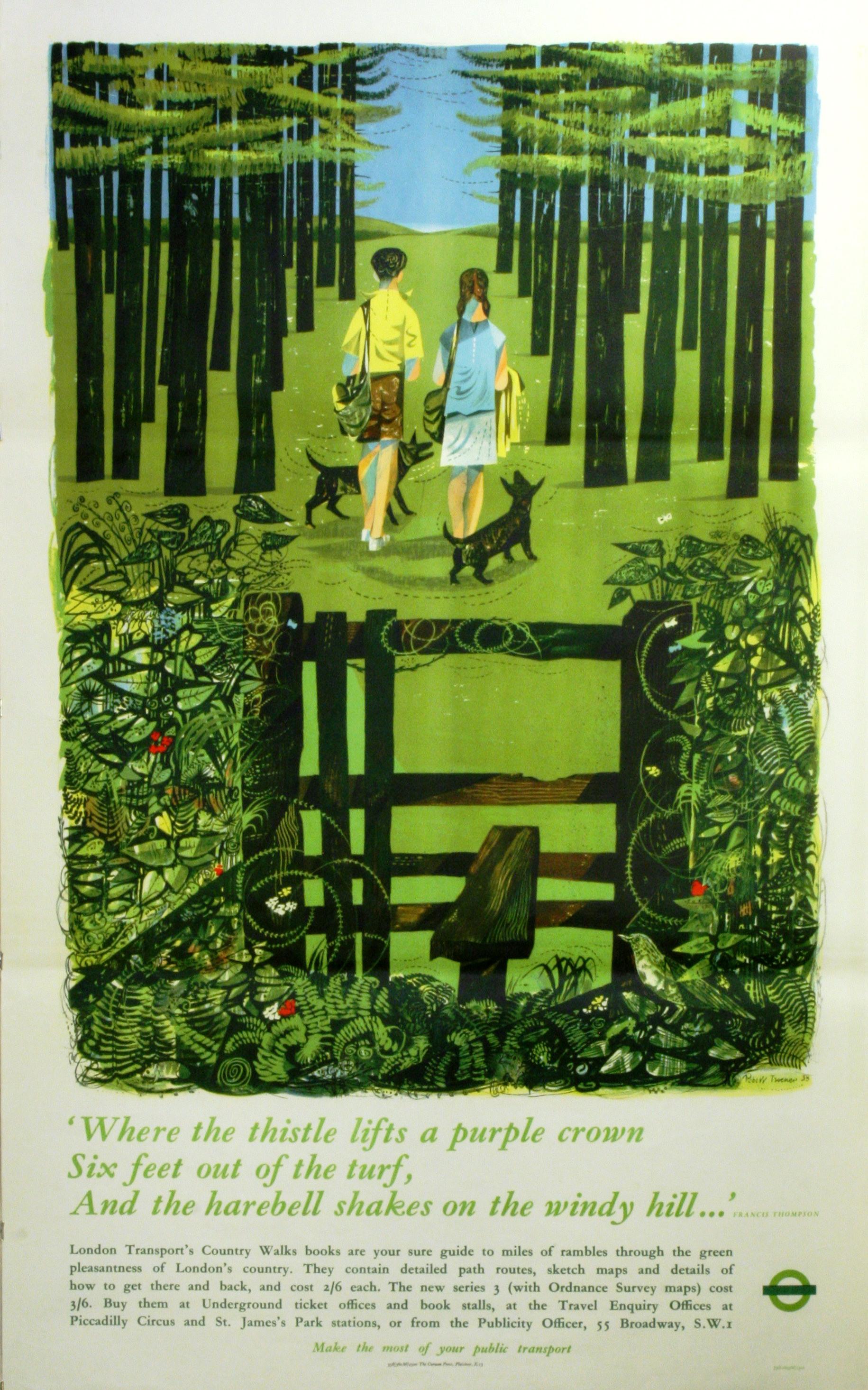 Lot 1512 - Advertising Poster London Transport Country Walks Turner