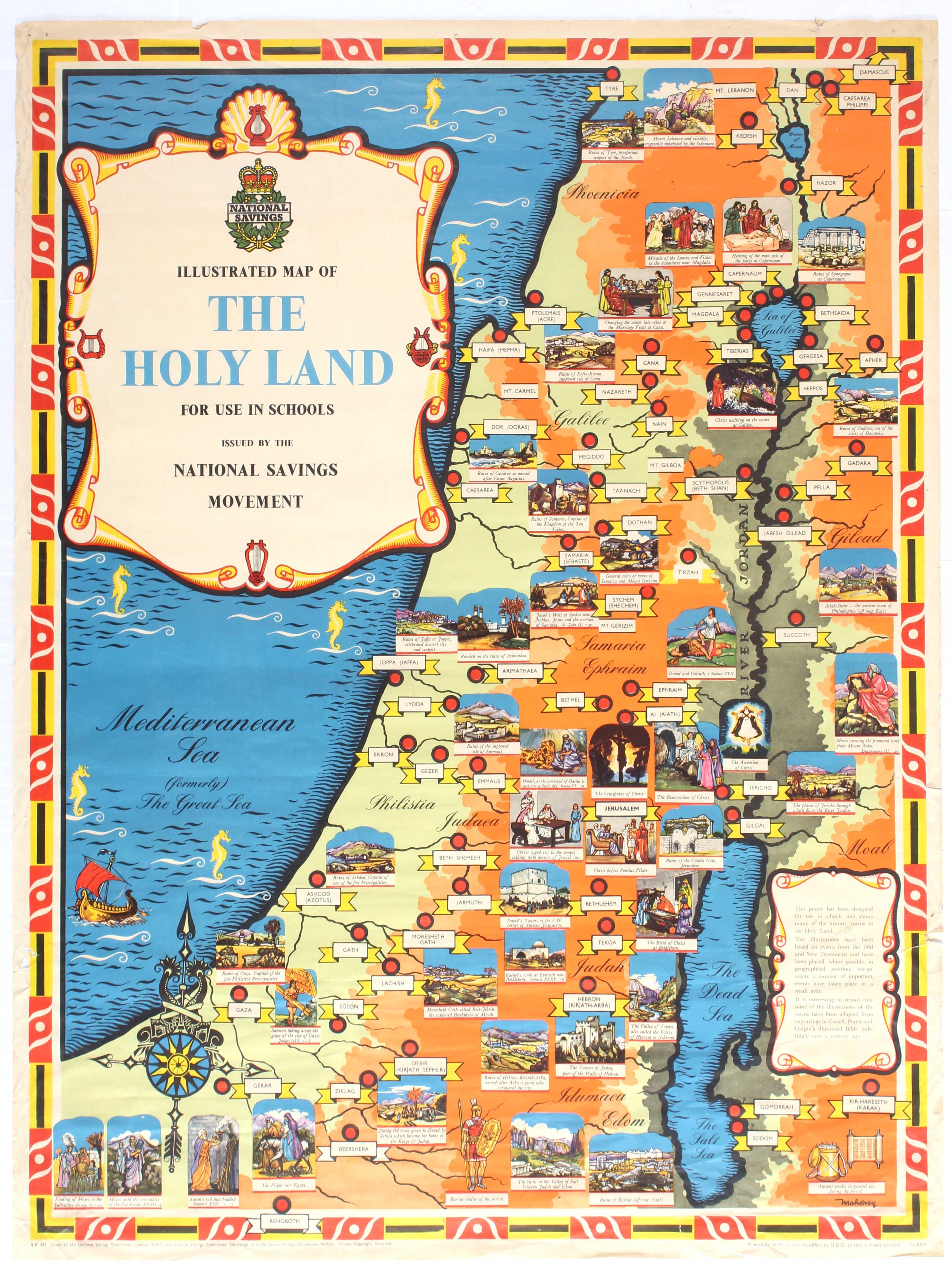 Lot 1308 - Advertising Poster Israel National Savings