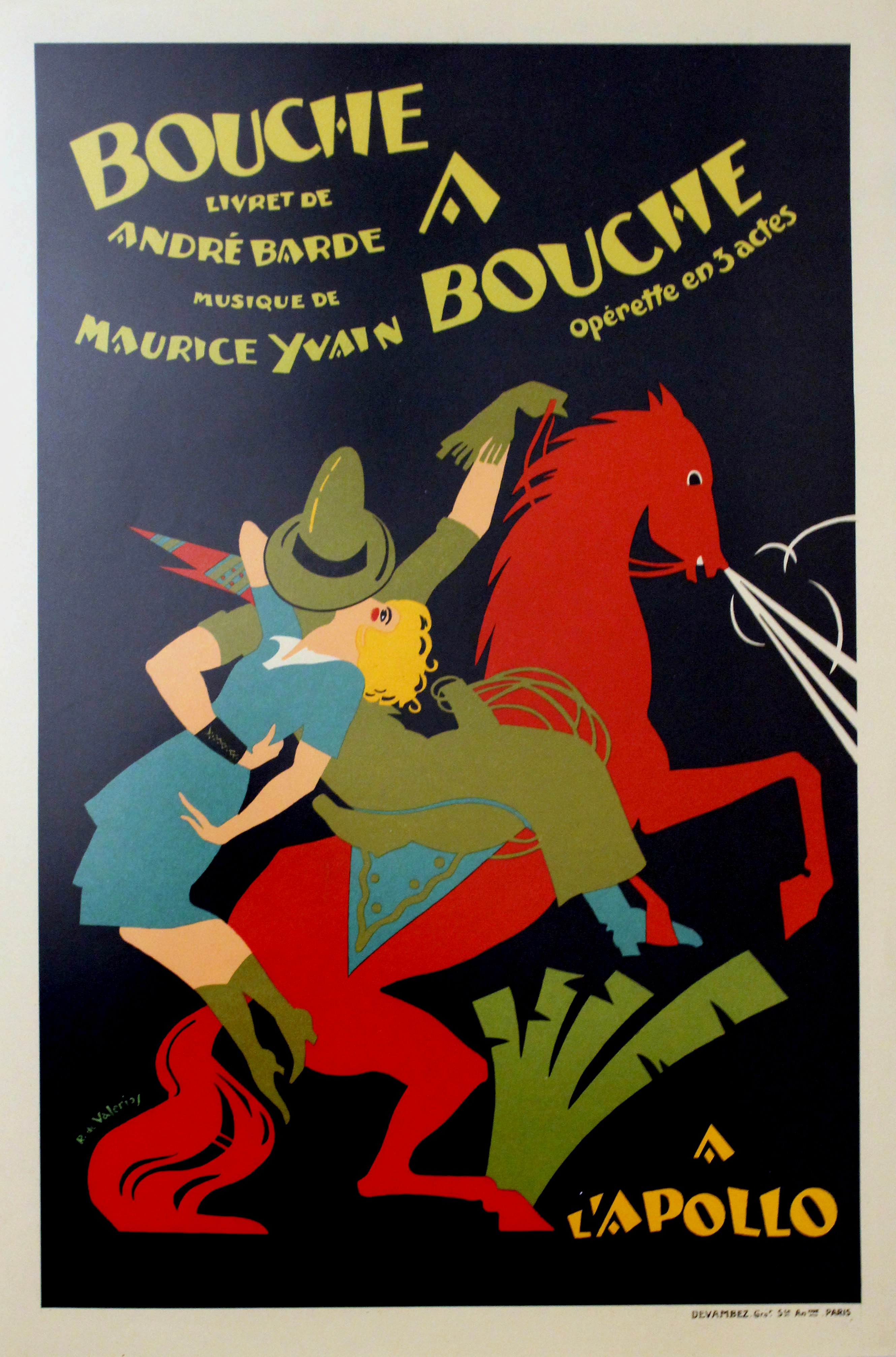 Lot 1203 - Advertising Poster Mouth to Mouth operetta France