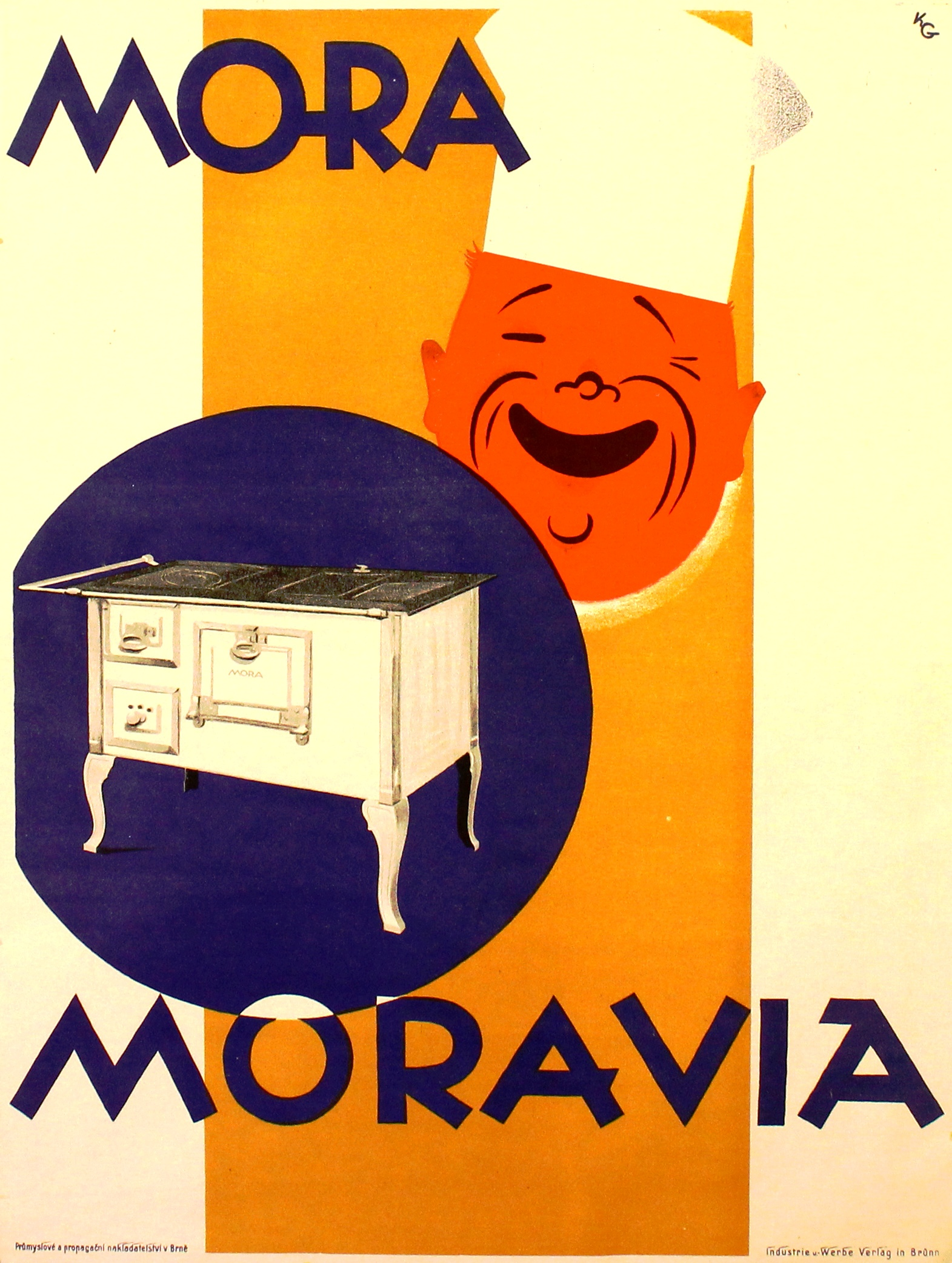 Lot 1313 - Advertising Poster Mora Moravia Cooking Stove Aga