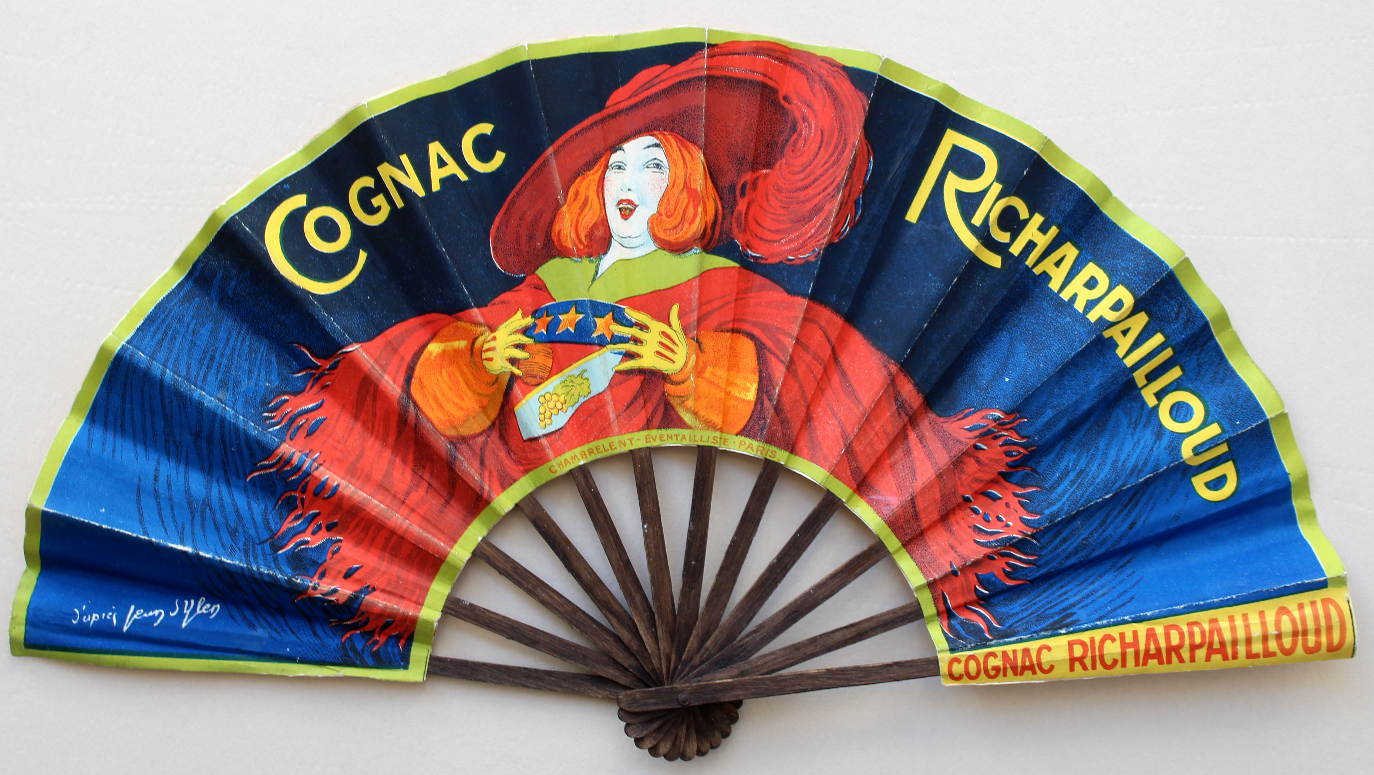 Lot 1207 - Advertising poster fan Cognac Richardpailloud