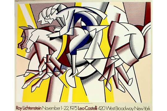 Original vintage poster advertising a Roy Lichtenstein exhibition at ...
