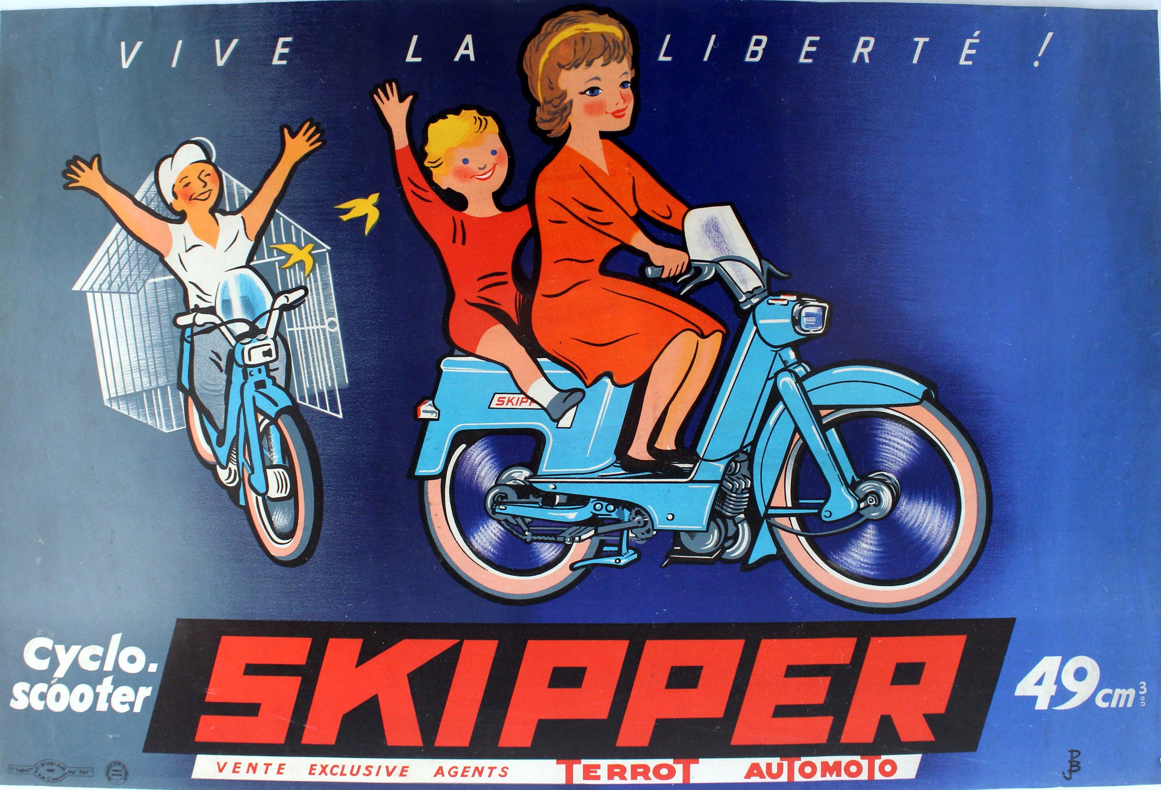 Lot 1513 - Advertising Poster Automoto Terrot Skipper