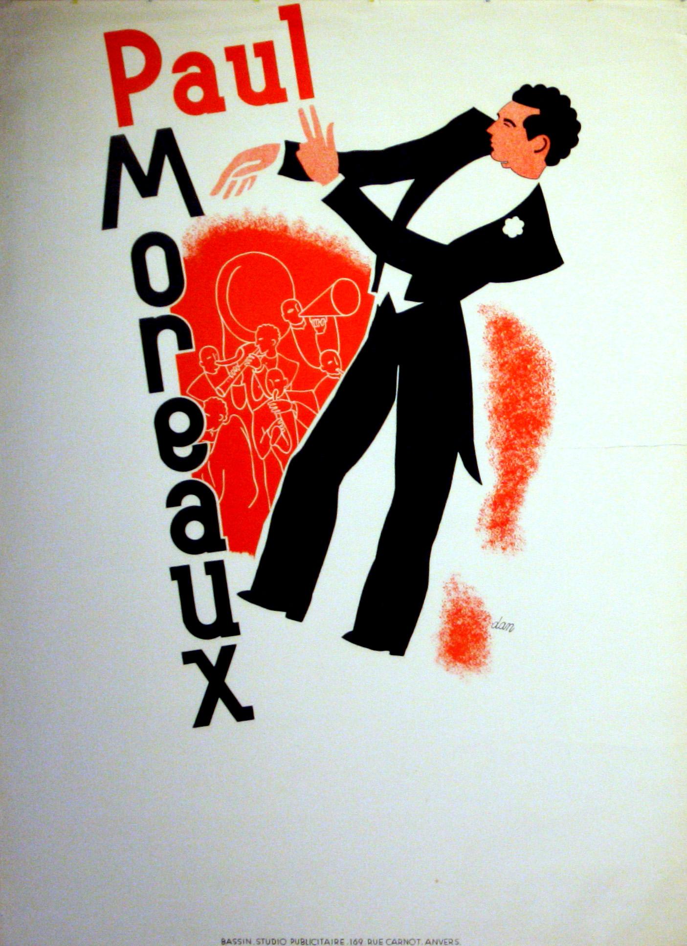 Lot 1311 - Advertising Poster Paul Moreaux Art Deco Jazz
