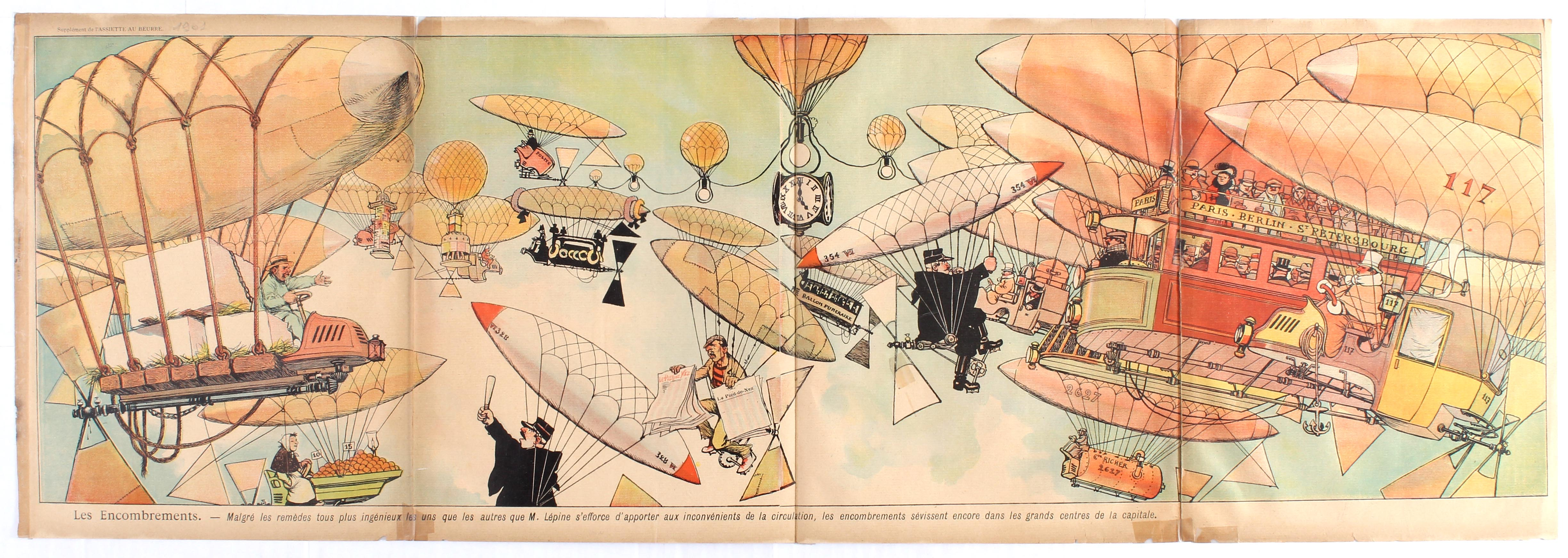 Lot 1000 - Advertising Poster Zeppelin Early Aviation