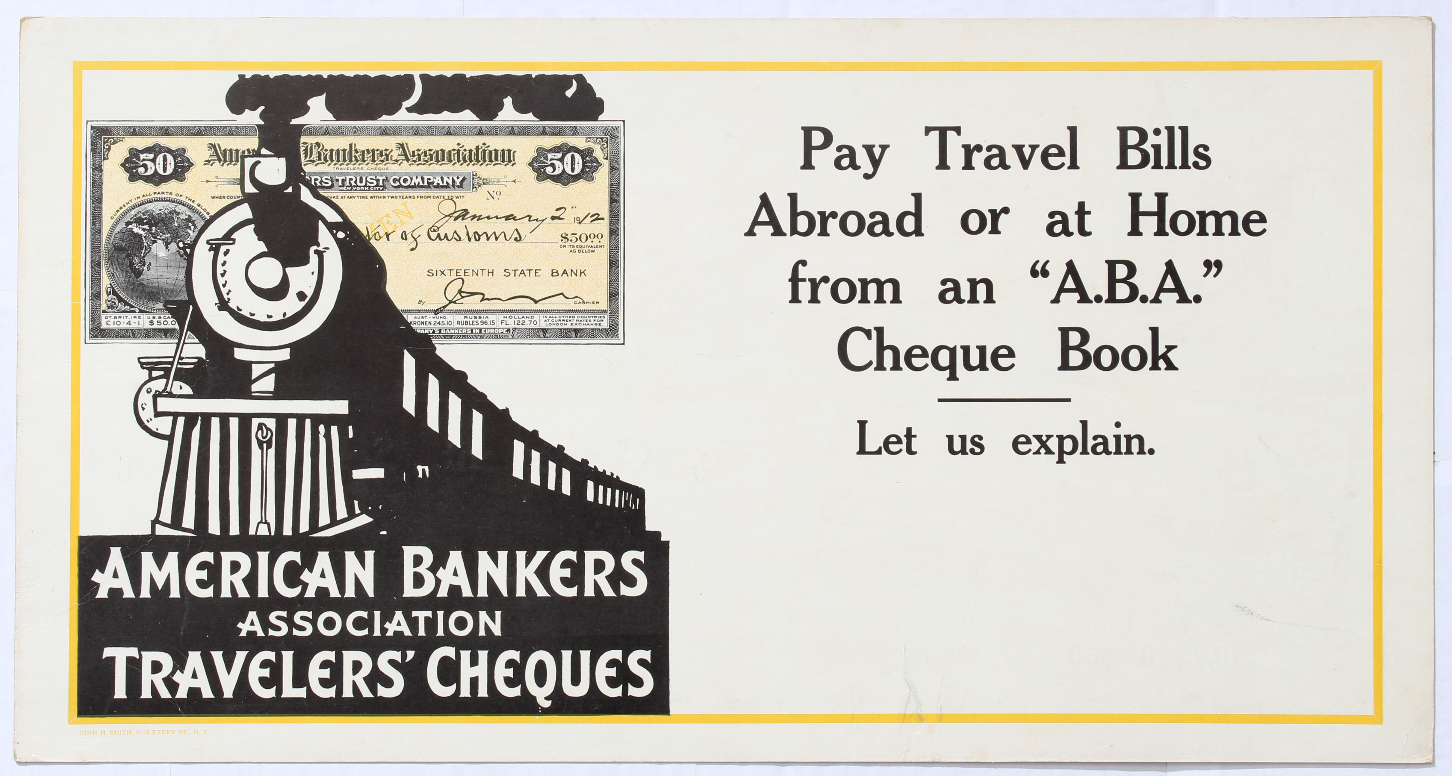 Lot 1306 - Advertising Poster American Bankers Association