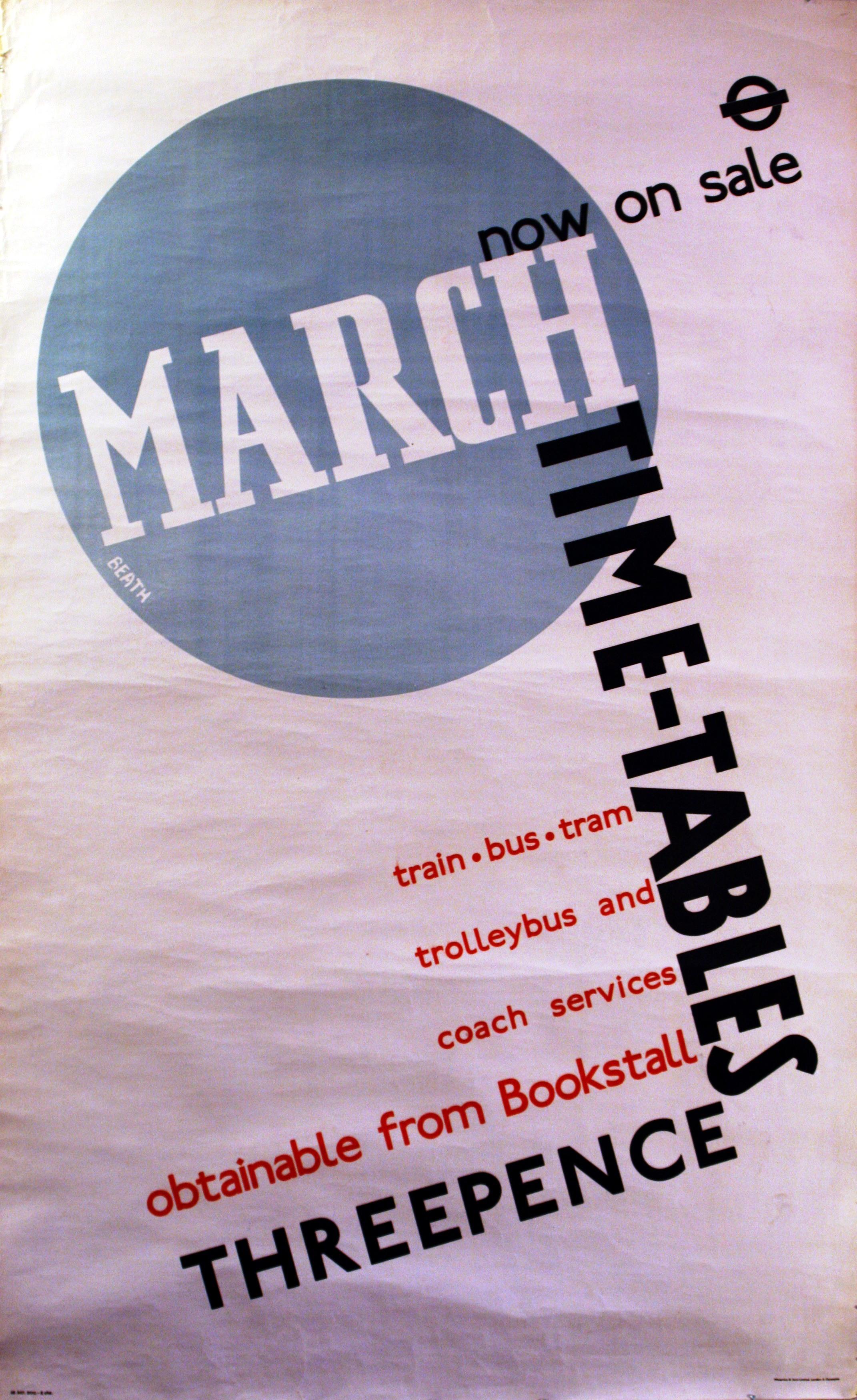 Lot 1318 - Advertising Poster London Transport Modernist