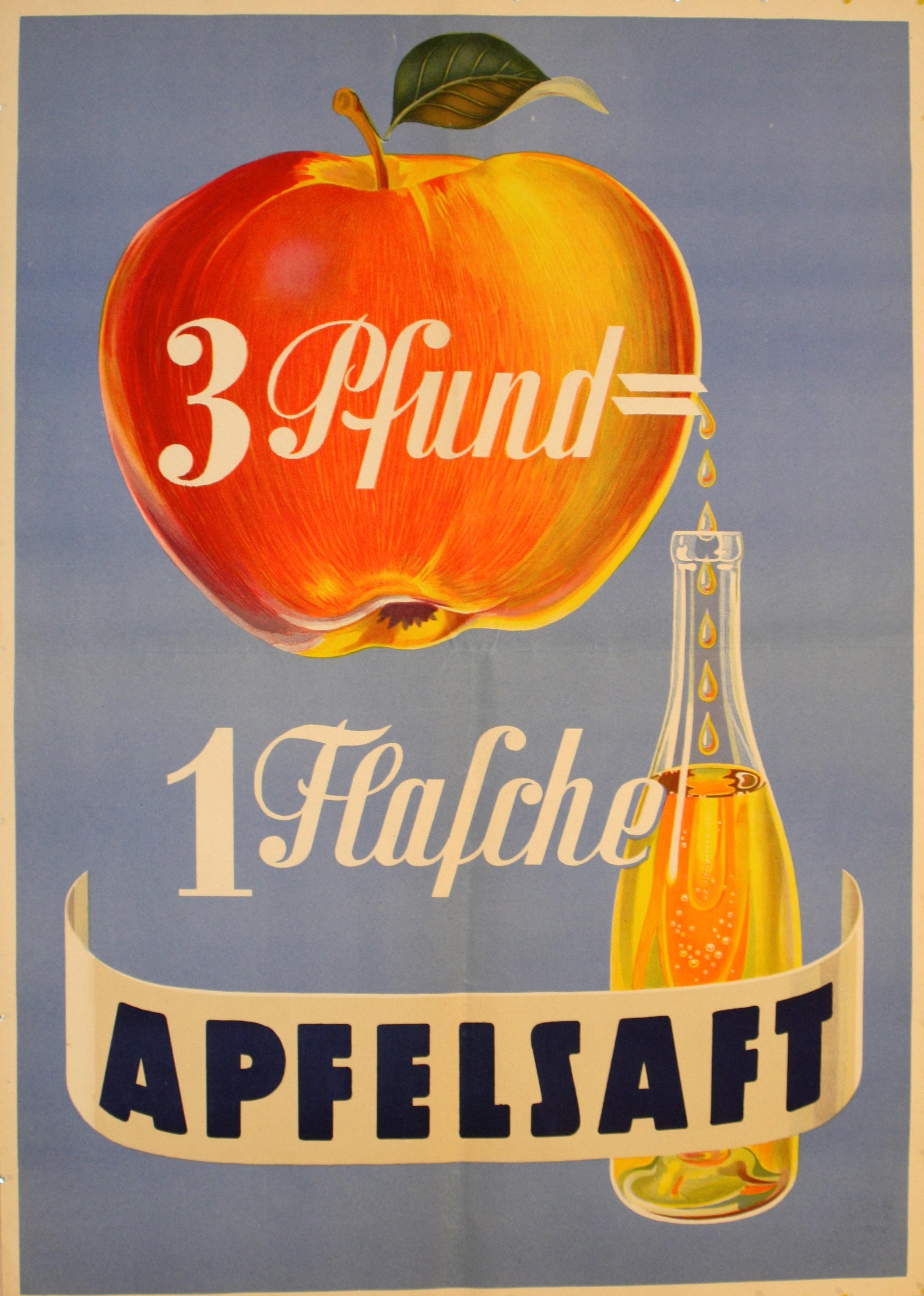 Lot 1300 - Advertising Posters Apple Juice