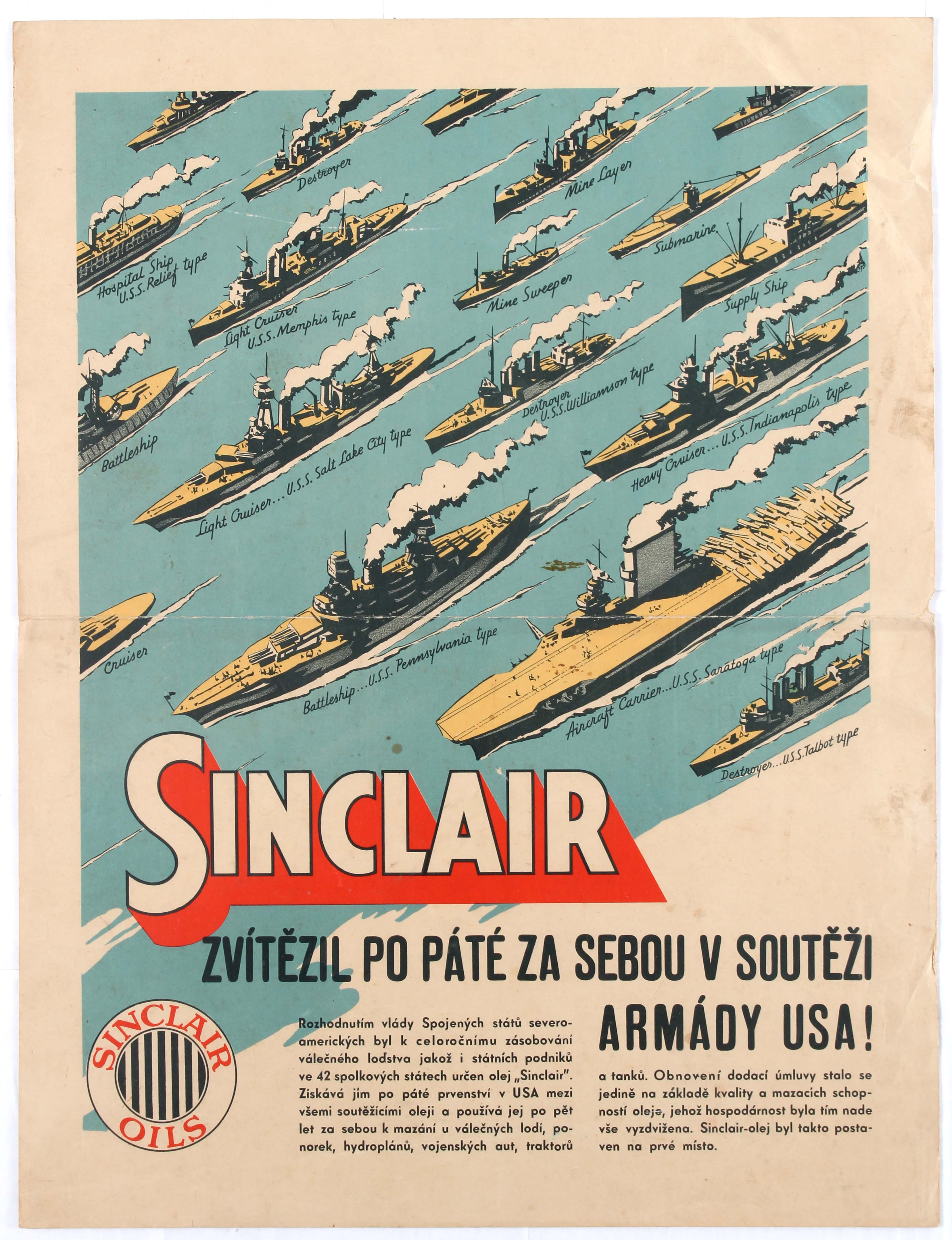 Lot 1401 - Advertising Poster Sinclair Oil