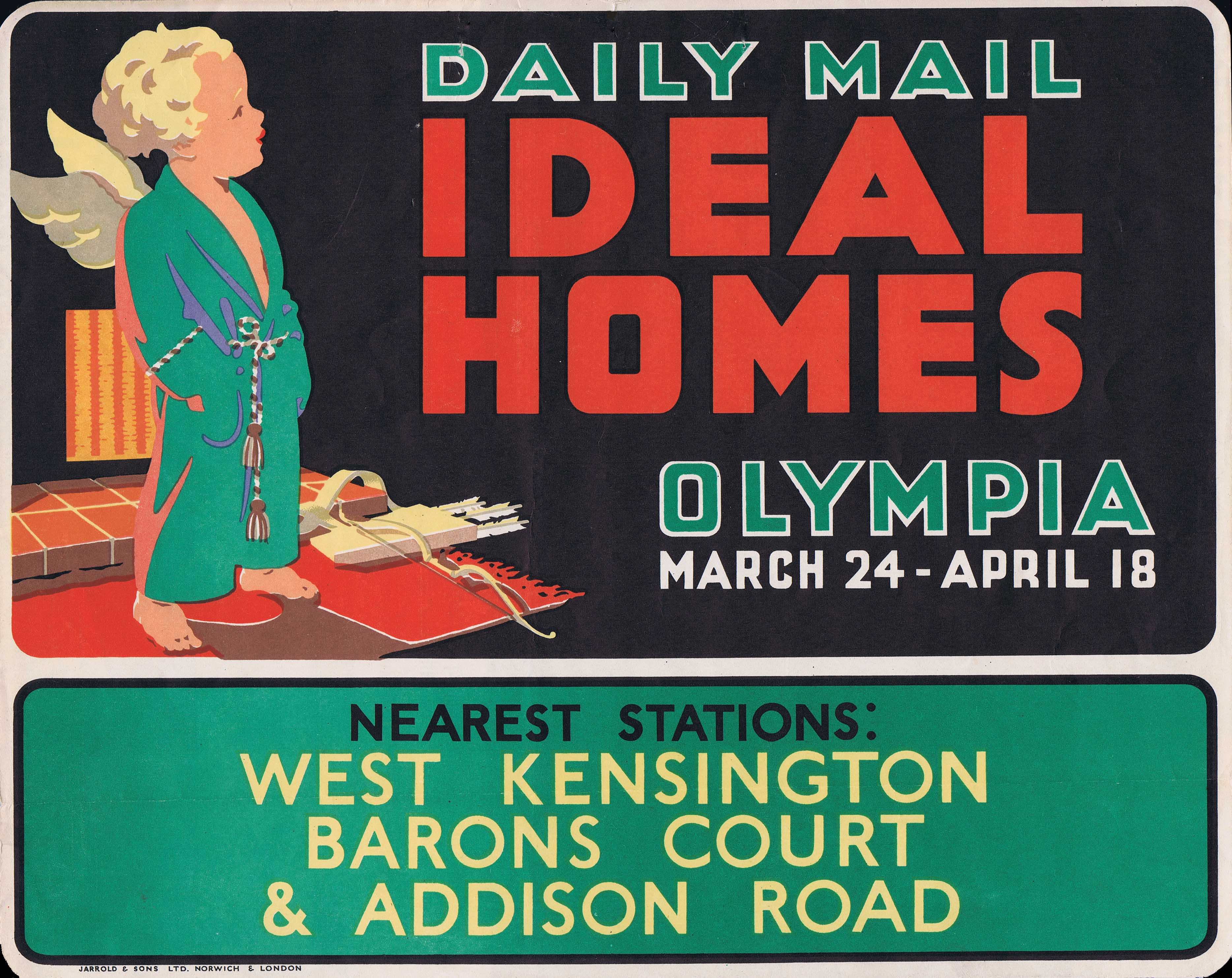 Lot 1304 - Advertising Posters Ideal Homes Olympia Daily Mail 1936