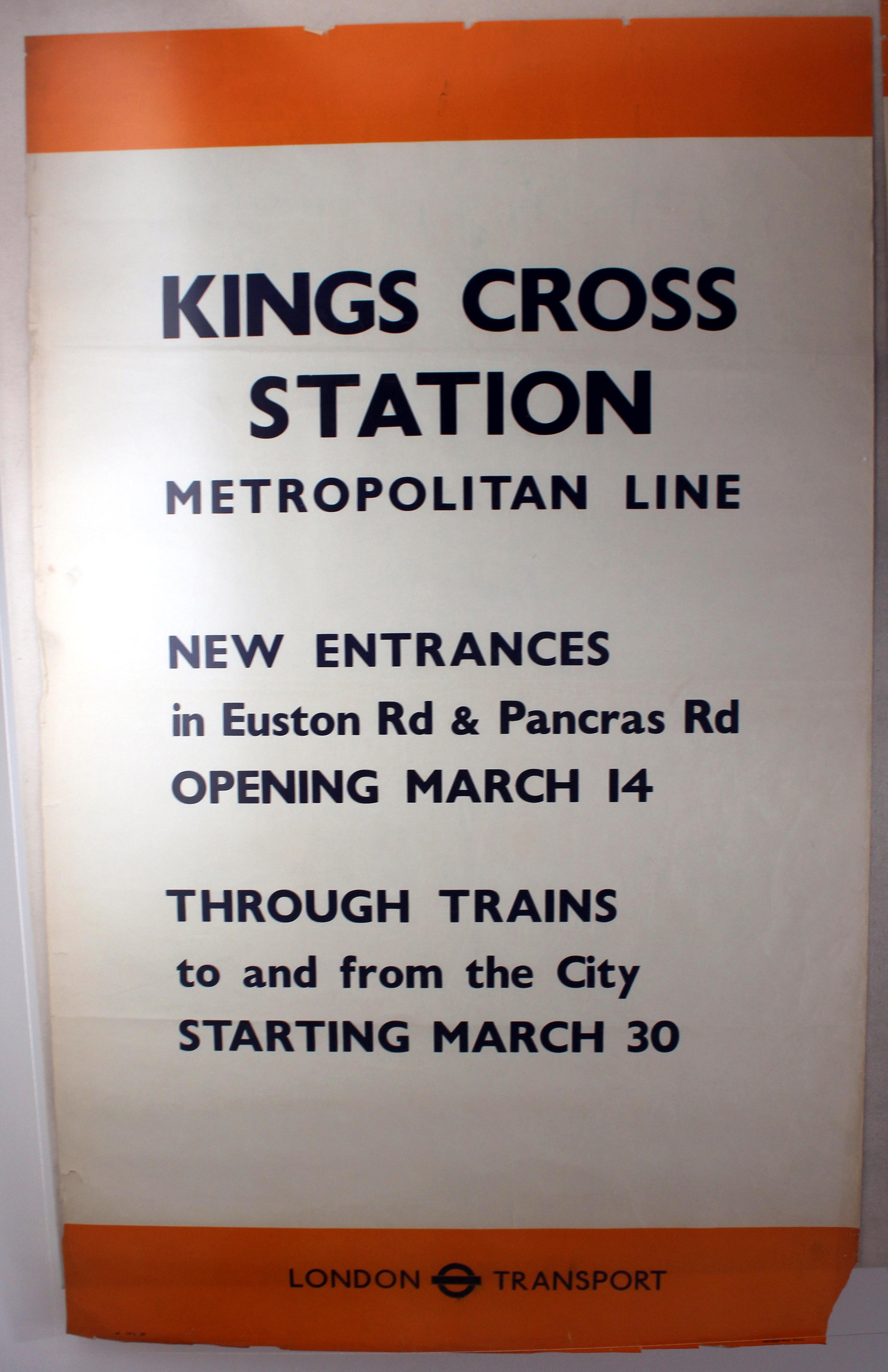 Lot 1404 - Original London Underground Poster King's Cross WWII