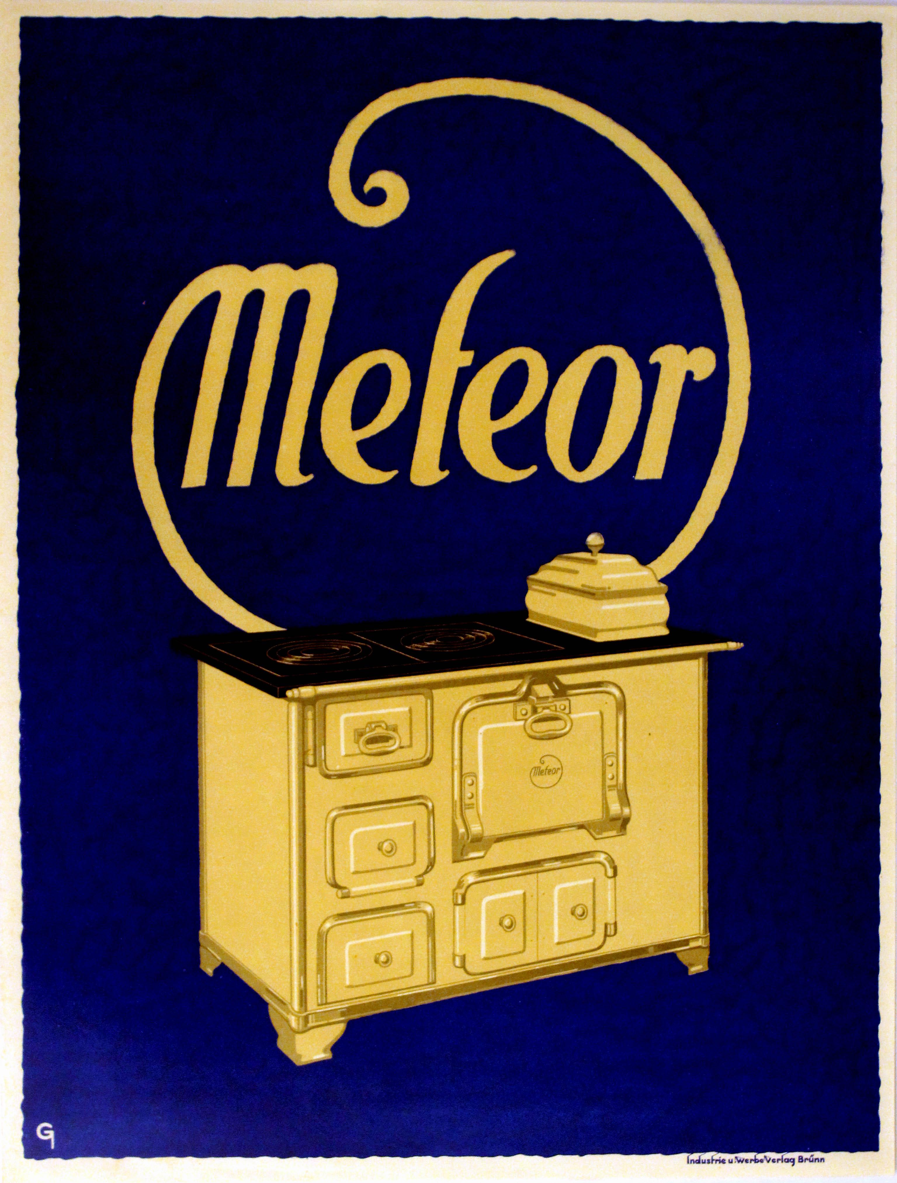 Lot 1204 - Advertising Poster Meteor Aga Stove