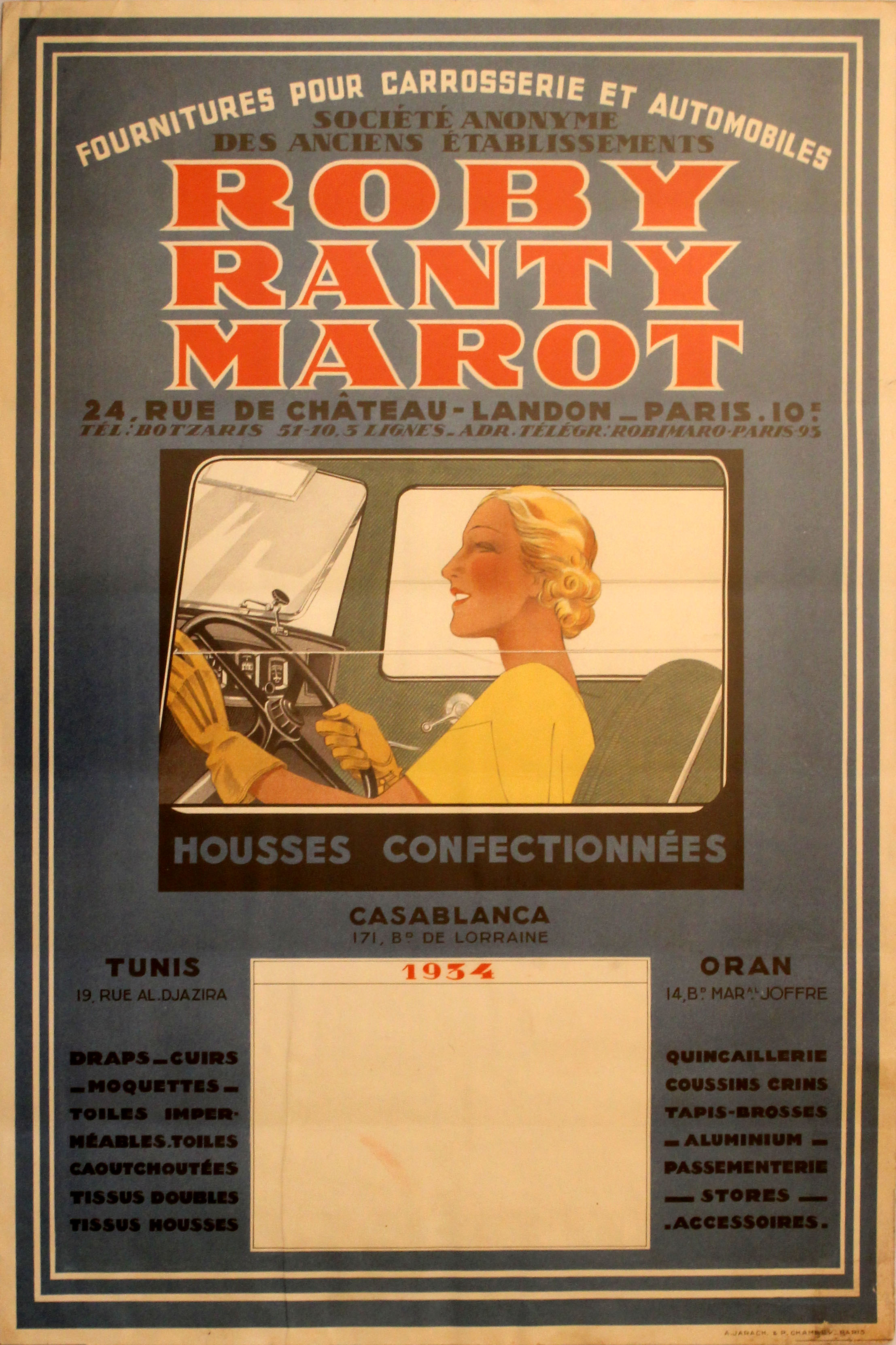 Lot 1302 - Roby Ranty Marot Automotive Supplies