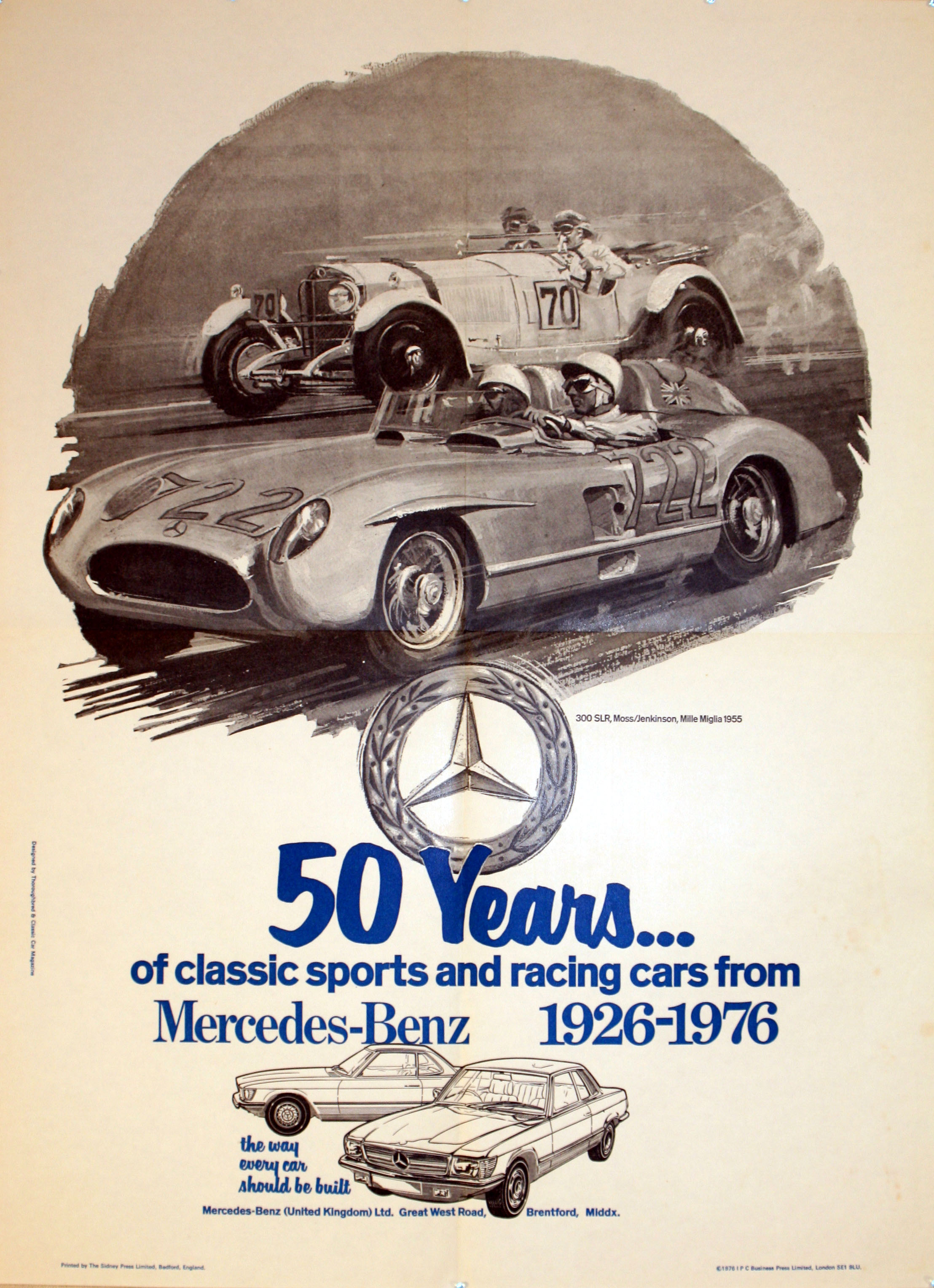 Mercedes benz original vintage advertising poster for for Mercedes benz poster