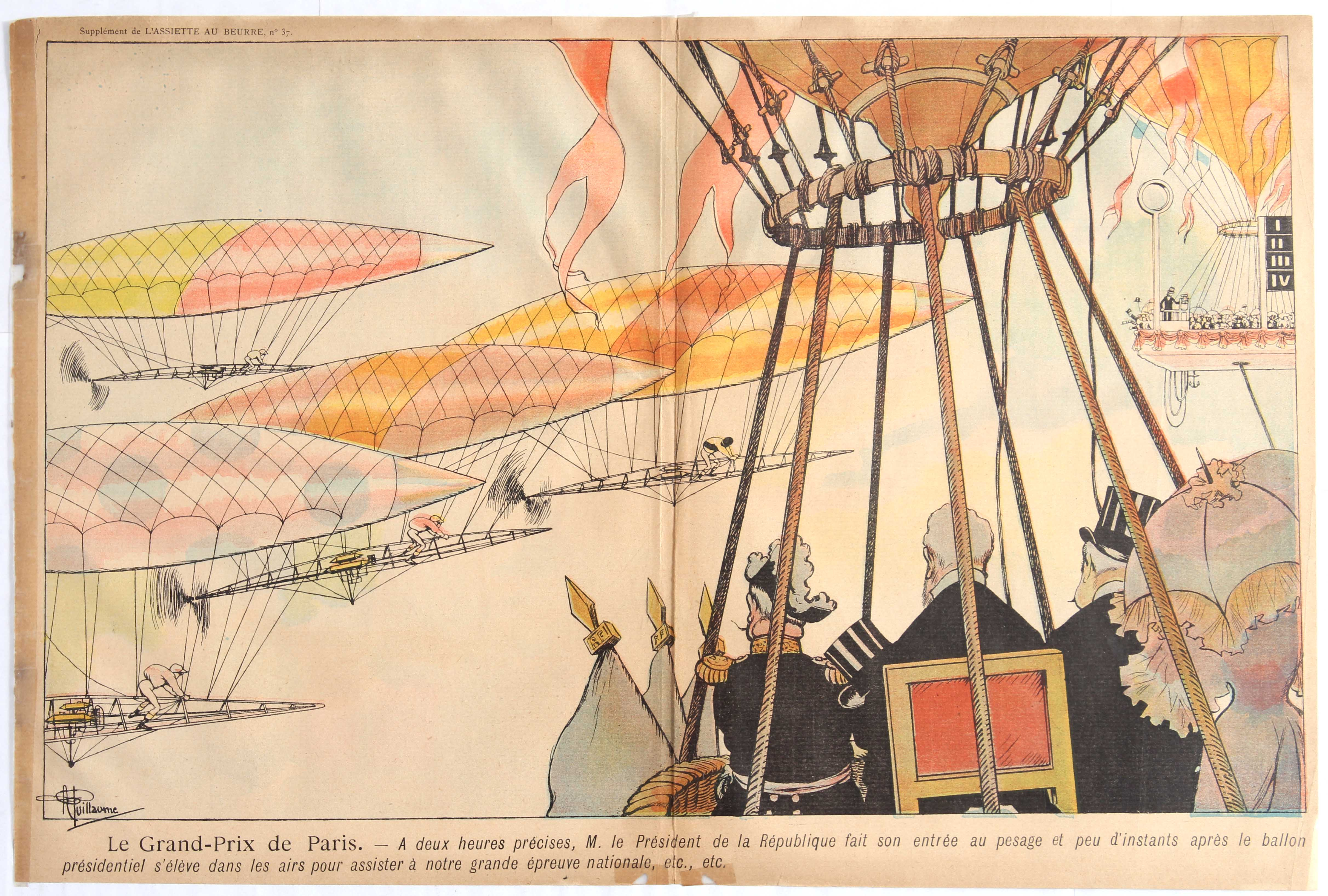 Lot 1002 - Advertising Poster Zeppelin Early Aviation