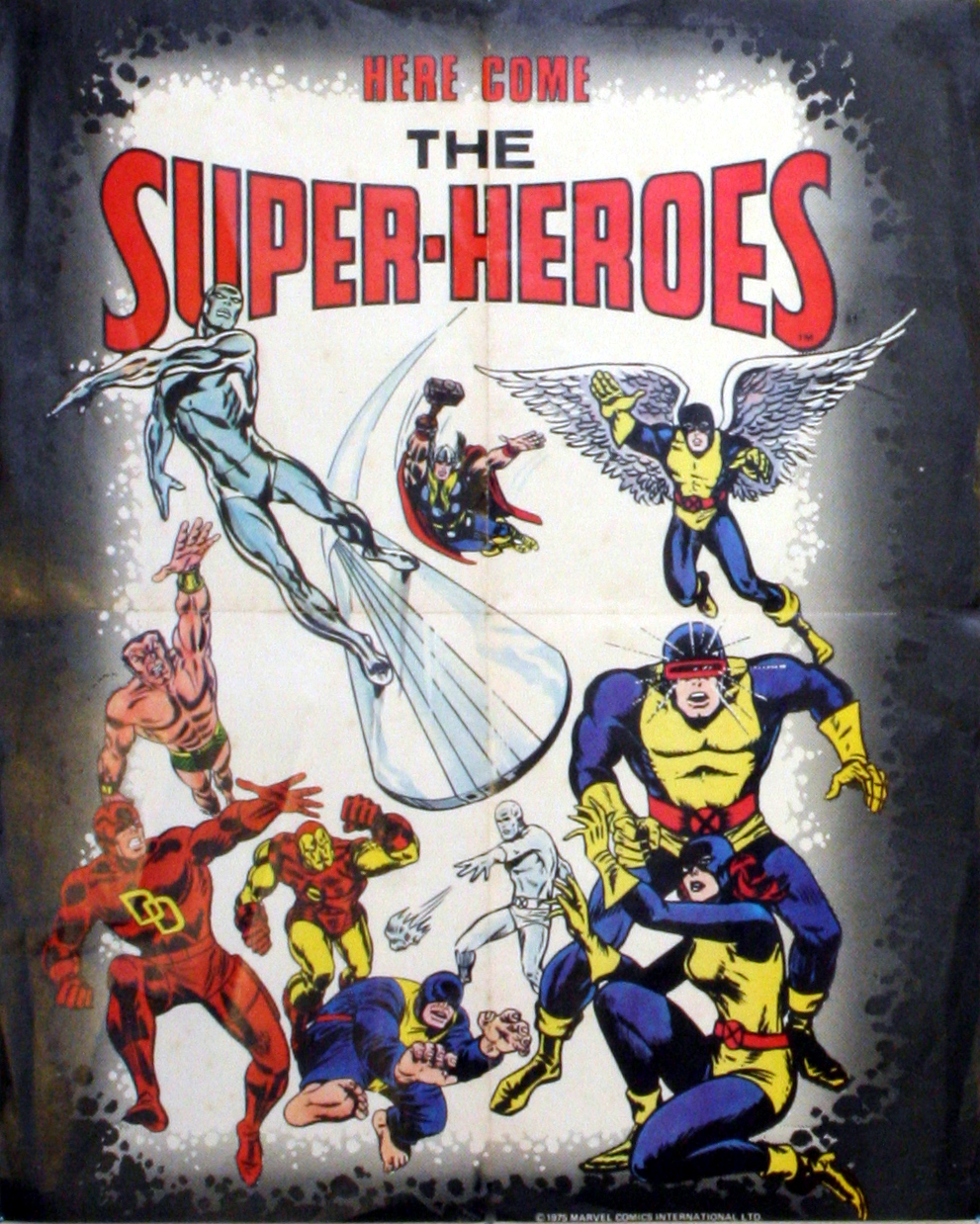 Poster Marvel Comic-Here Come The Heroes