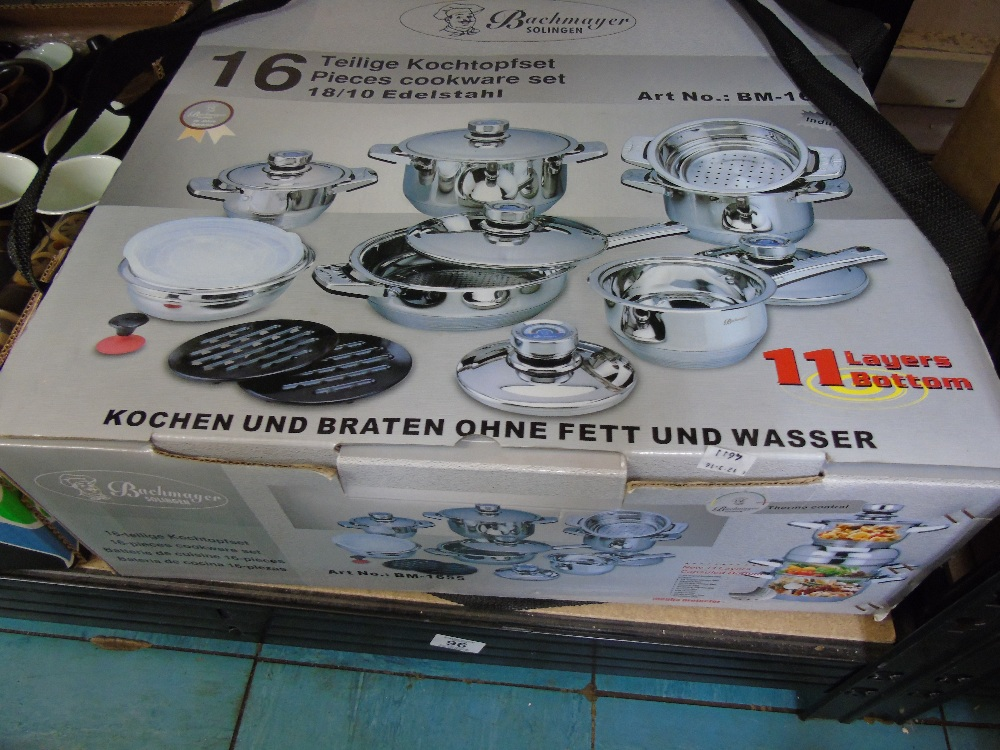 BOXED 16 PIECES COOKWARE SET