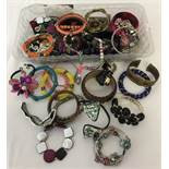 A collection of necklaces, bracelets and earrings.