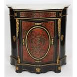 MEUBLE D'APPUI BOULLE NAPOLEON III En bois noirci et marqueterie Boulle en écaille de tortue rouge