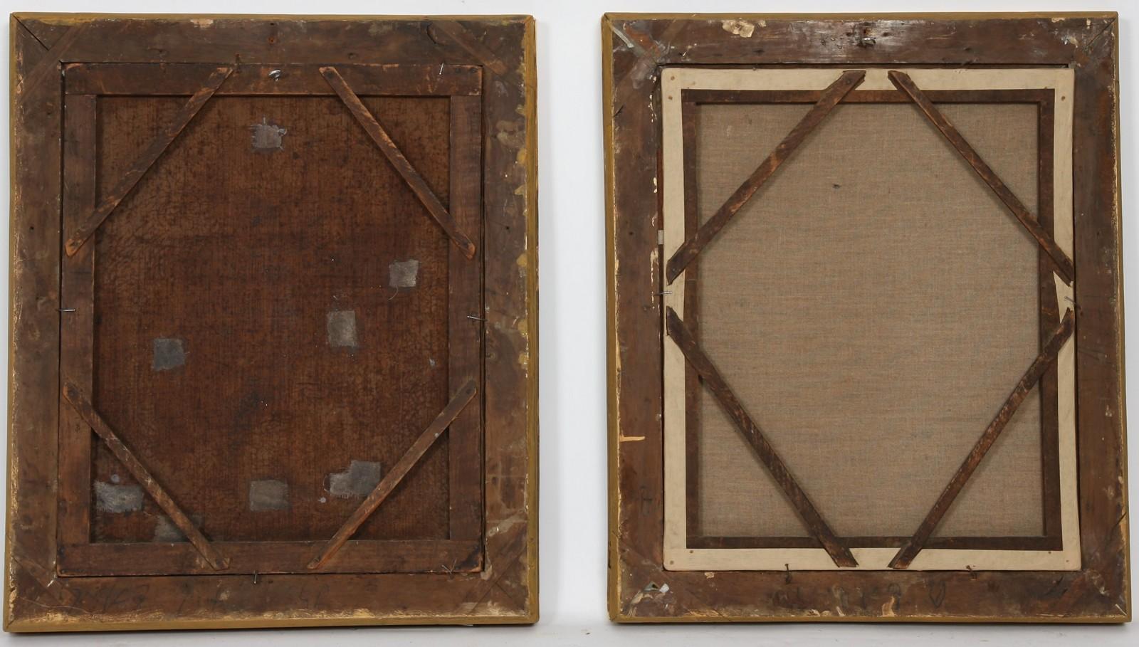 """PAIRE DE TABLEAUX """"PORTRAITS  DE JEUNES HOMMES"""" XIXè Paire d'huiles sur toiles encadrées - Image 2 of 2"""