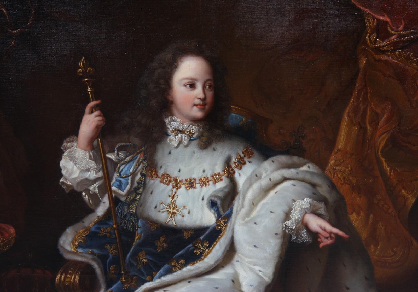 """TABLEAU """"PORTRAIT ROYAL DE LOUIS XV ENFANT"""" Huile sur toile encadrée représentant le jeune roi en - Image 2 of 3"""