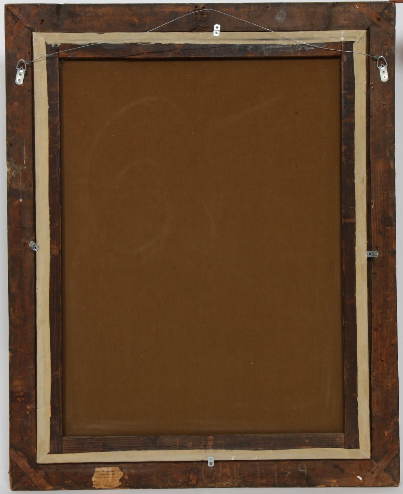 """TABLEAU """"BOUQUET DE FLEURS"""" Huile sur toile encadrée représentant un bouquet de fleurs dans un - Image 2 of 2"""