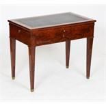 TABLE A LA TRONCHIN EN ACAJOU XIXè Table d'architecte dite à la Tronchin, à plateau amovible monté