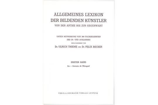 Thieme becker lexikon online dating