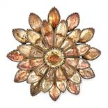 AN ANTIQUE TOPAZ BROOCH, PORTUGUESE LATE 18TH CENT