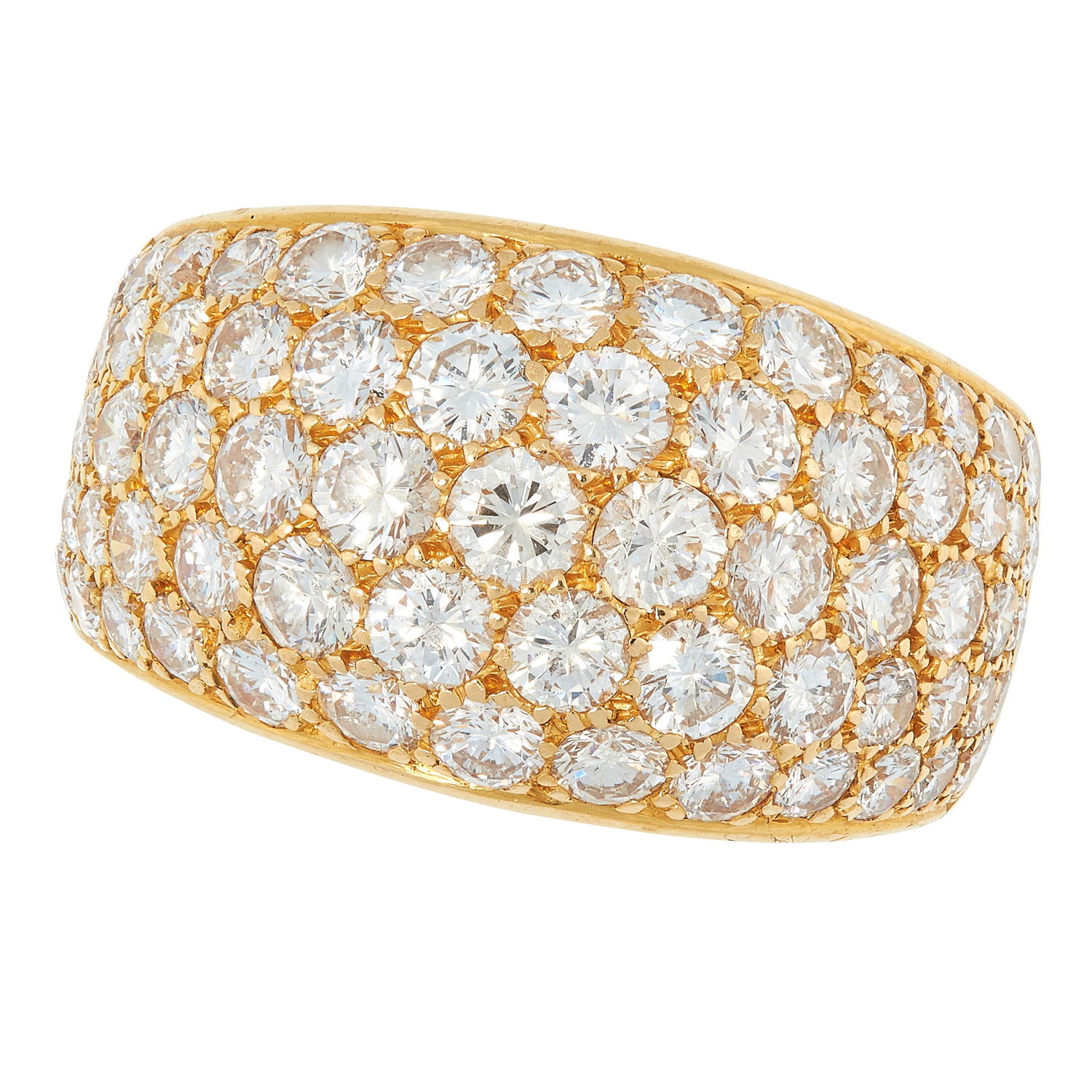 A DIAMOND DRESS RING, BULGARI in 18ct yellow gold,