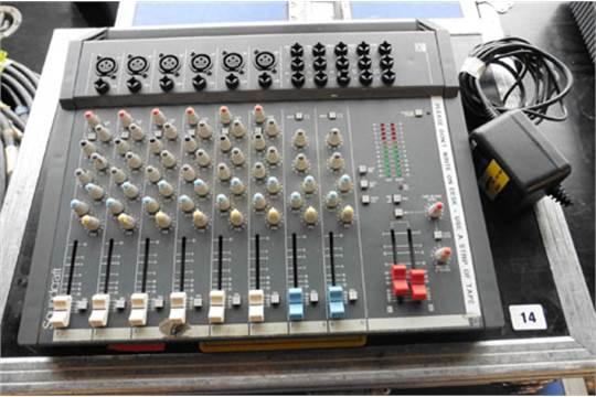 Wonderbaar Soundcraft Spirit Folio 10/2 mixer with power supply and case IN-93