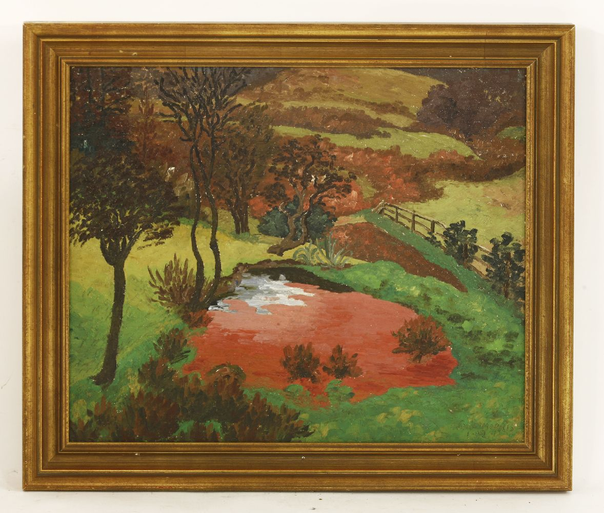 Lot 385 - *Sir Cedric Morris (1889-1982)'THE RED POND'Signed and dated '1-32' l.r., oil on canvas61 x