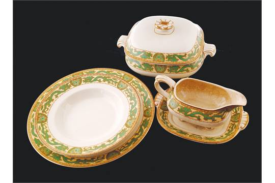 Previous & Forty-eight piece Booths green dragon dinner set Silicon China 1906 ...