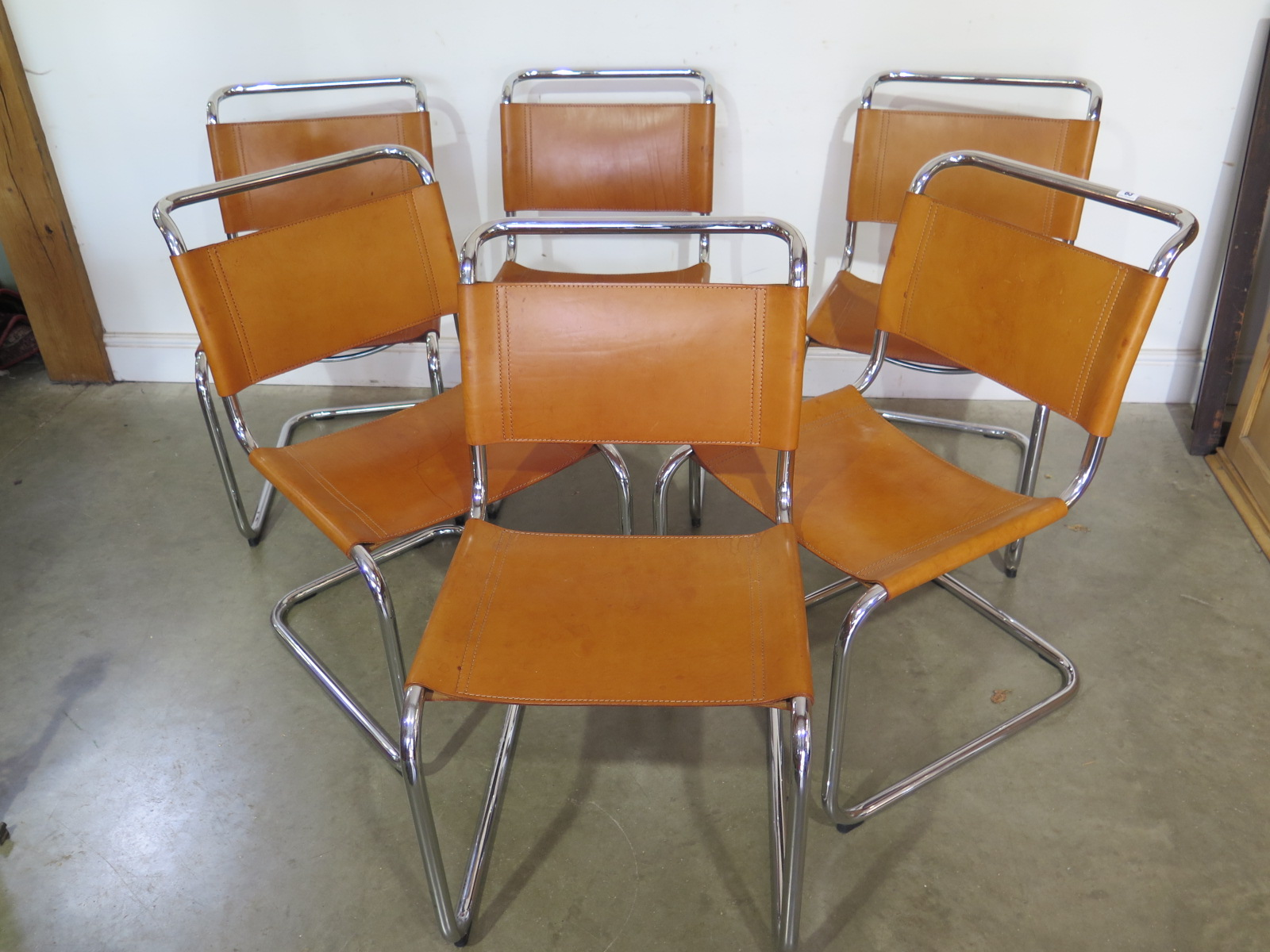 Groovy A Set Of Six Chrome And Leather Colombo Dining Chairs From A Pdpeps Interior Chair Design Pdpepsorg