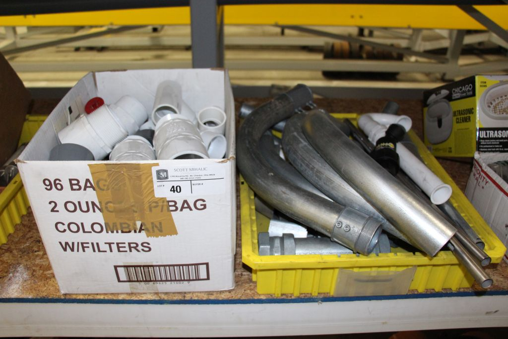 Lot 40 - Misc. Conduct Connectors & PVC Connectors / Fittings