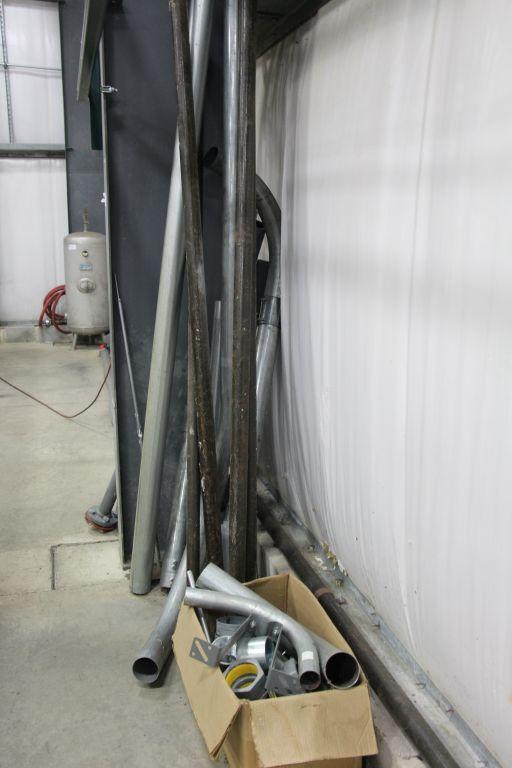 Lot 14b - assortment of black pipe, conduit & pvc