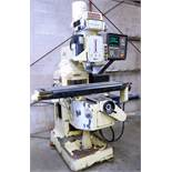"DELTA CNC VERTICAL MILLING MACHINE, ANILAM CRUSADER SERIES M CNC CONTROL, 10"" x 52"" TABLE, 3,600"