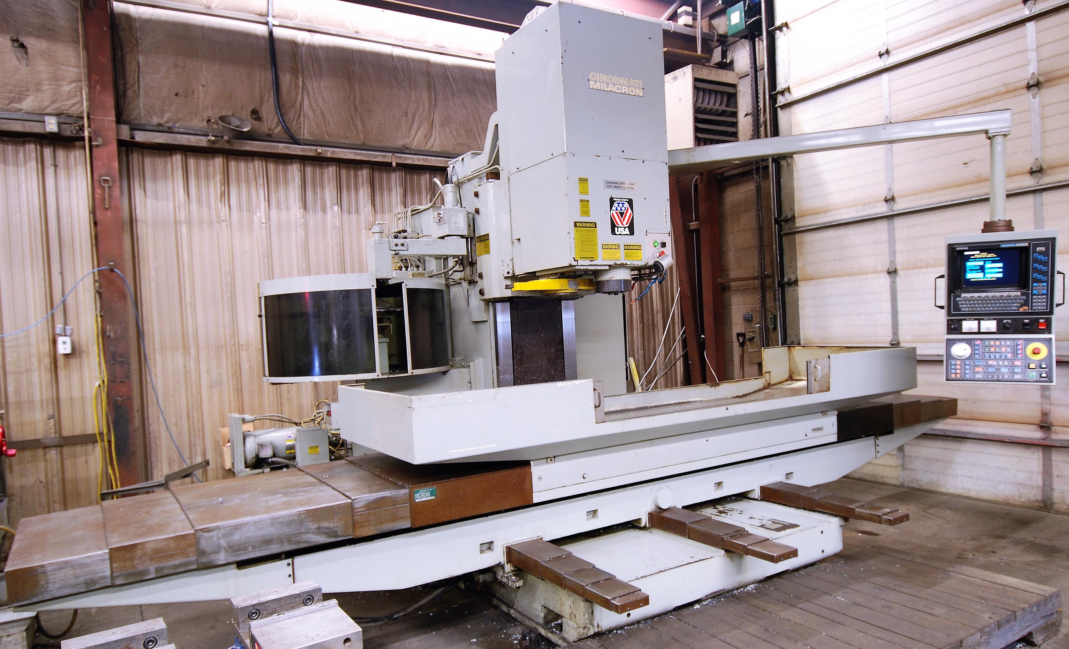 "CINCINNATI MILACRON20VC CNC VERTICAL MILLING MACHINING, 80"" x 30"" TABLE, ACRAMATIC 850SX CNC"
