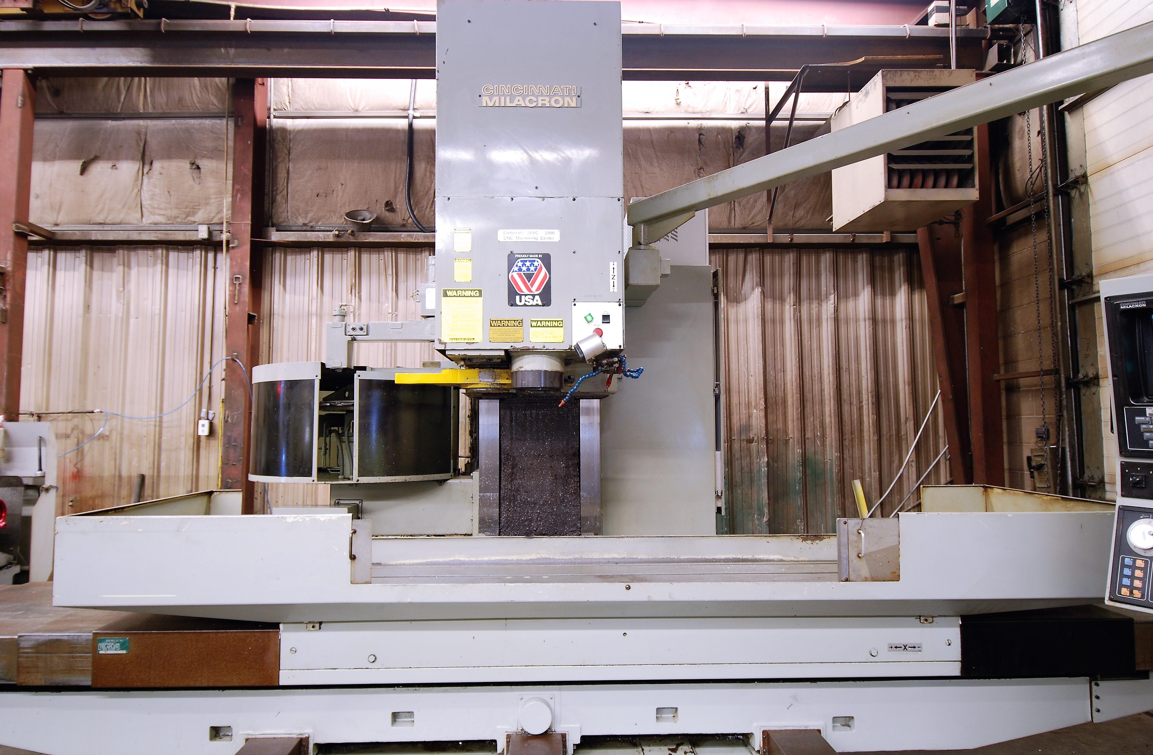 "CINCINNATI MILACRON20VC CNC VERTICAL MILLING MACHINING, 80"" x 30"" TABLE, ACRAMATIC 850SX CNC - Image 2 of 20"