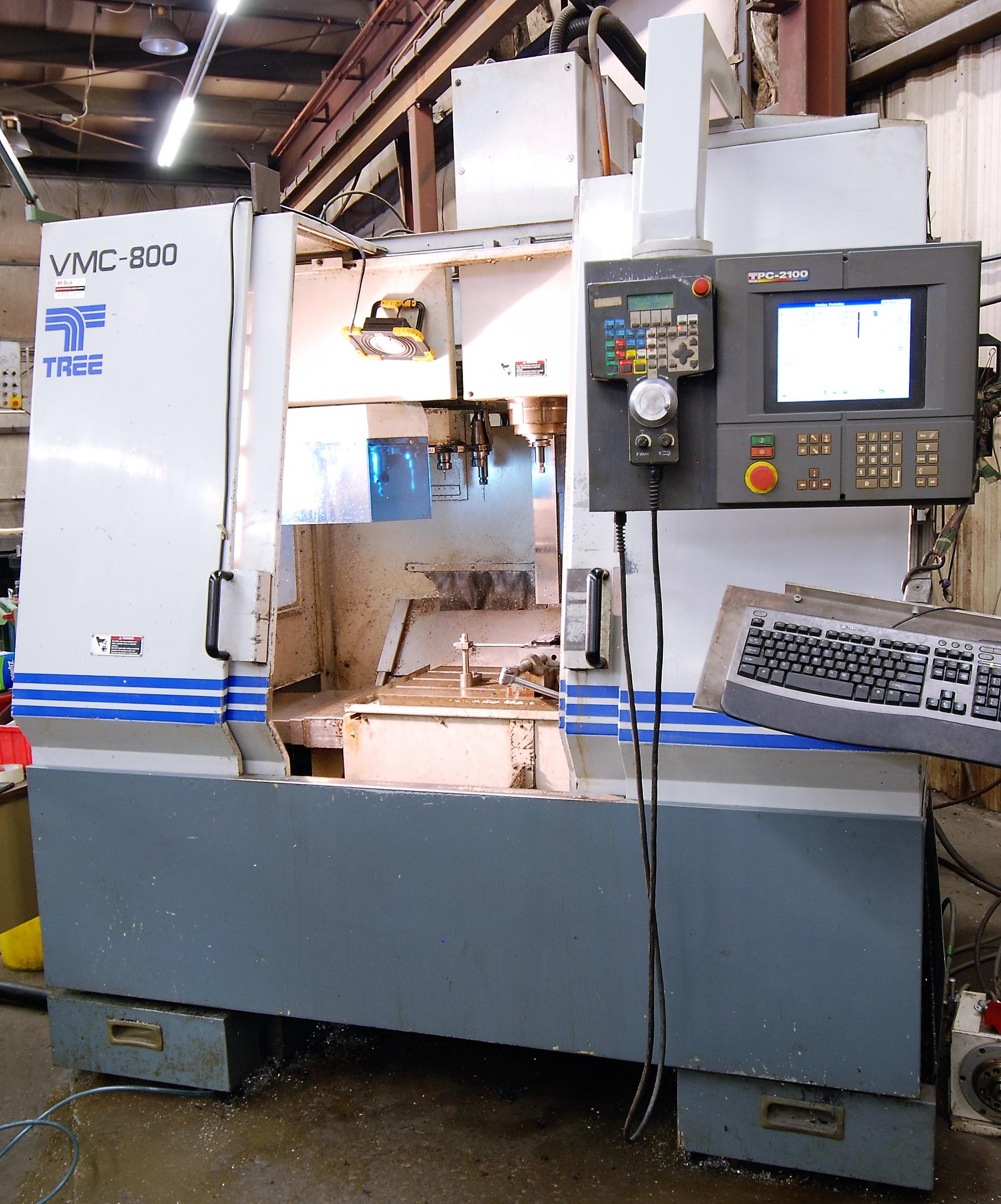 """TREEVMC 800/20 CNC VERTICAL MACHINING CENTER, S/N TS80900014U, PC-2100 CNC CONTROL, ATC, 25"""" x"""