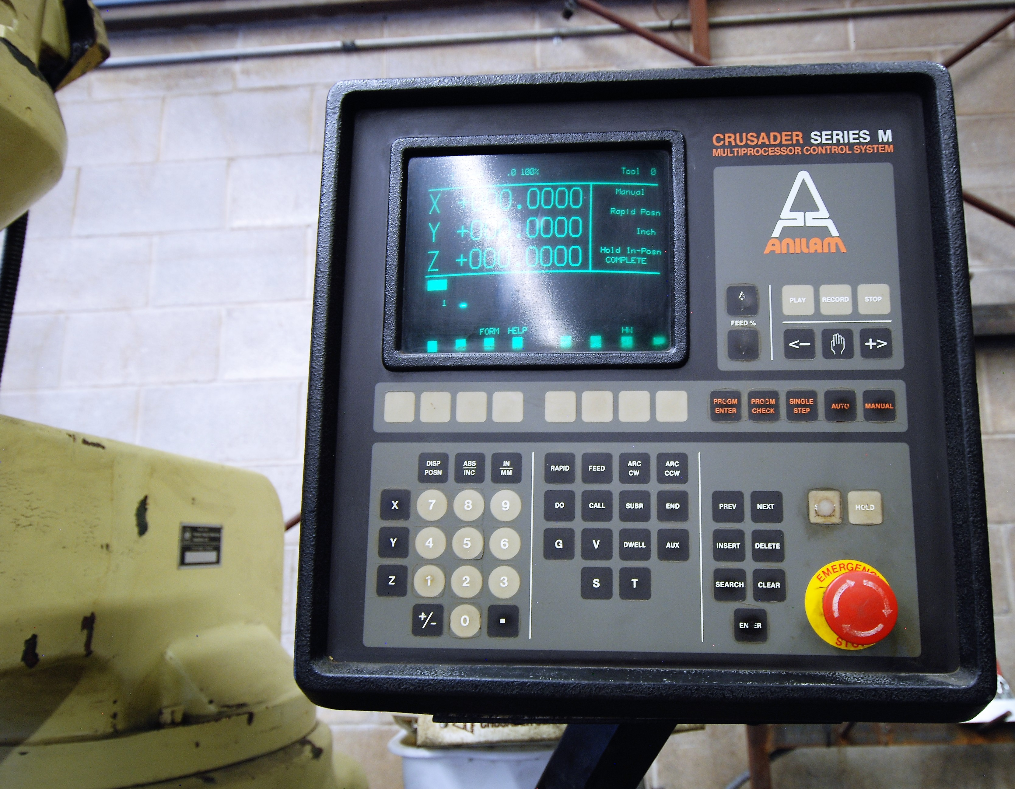 """DELTACNC VERTICAL MILLING MACHINE, ANILAM CRUSADER SERIES M CNC CONTROL, 10"""" x 52"""" TABLE, 3,600 - Image 3 of 7"""