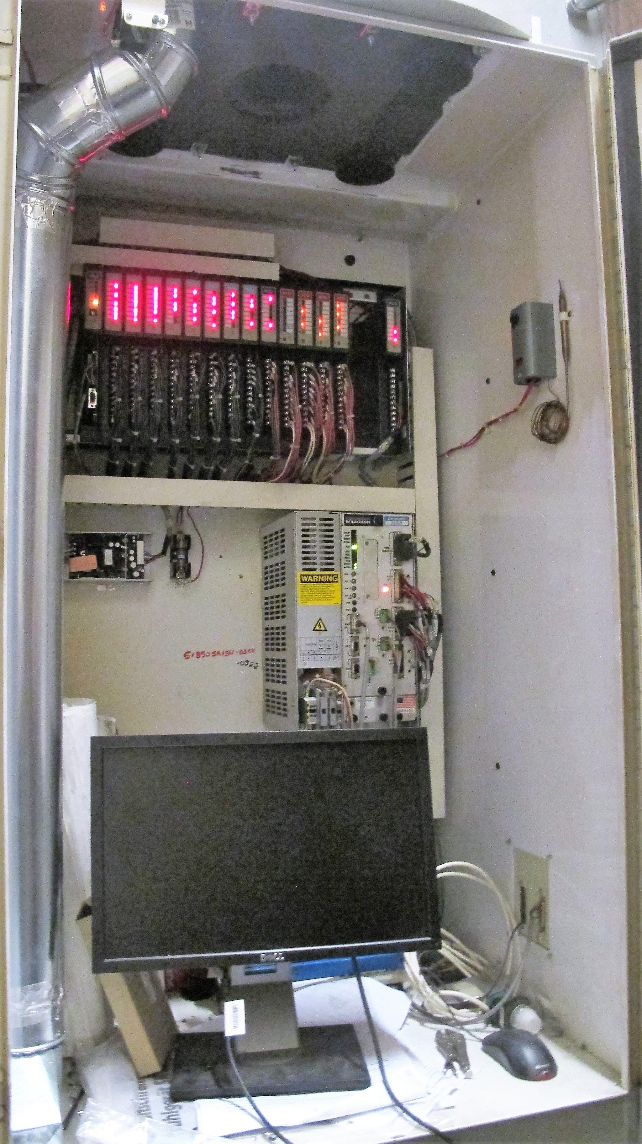 "CINCINNATI MILACRON20VC CNC VERTICAL MILLING MACHINING, 80"" x 30"" TABLE, ACRAMATIC 850SX CNC - Image 12 of 20"