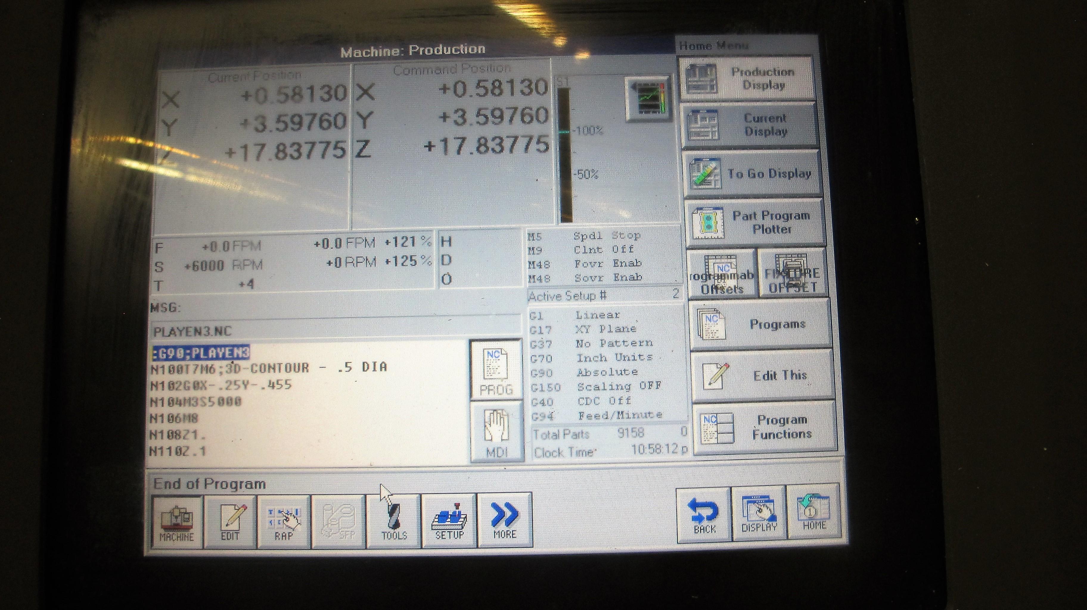 "TREEVMC 800/20 CNC VERTICAL MACHINING CENTER, S/N TS80900014U, PC-2100 CNC CONTROL, ATC, 25"" x - Image 4 of 16"